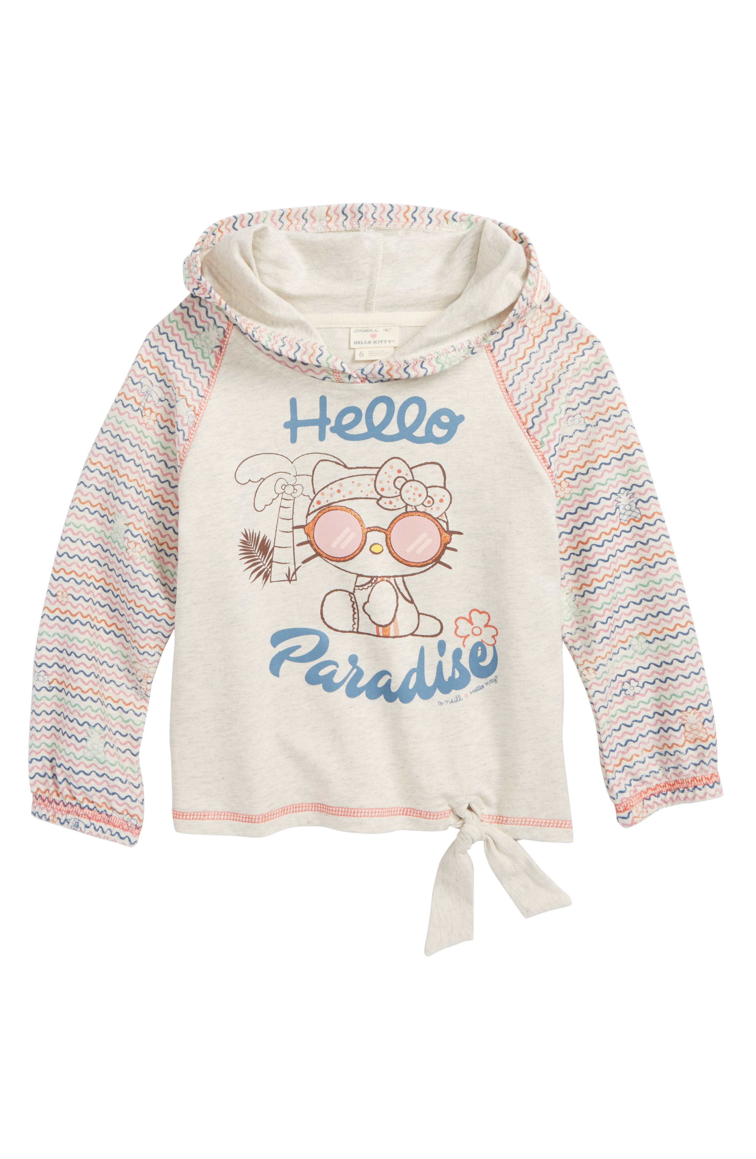 x Hello Kitty<sup>®</sup> Hello Paradise,                             Main thumbnail 1, color,                             Oatmeal Heather