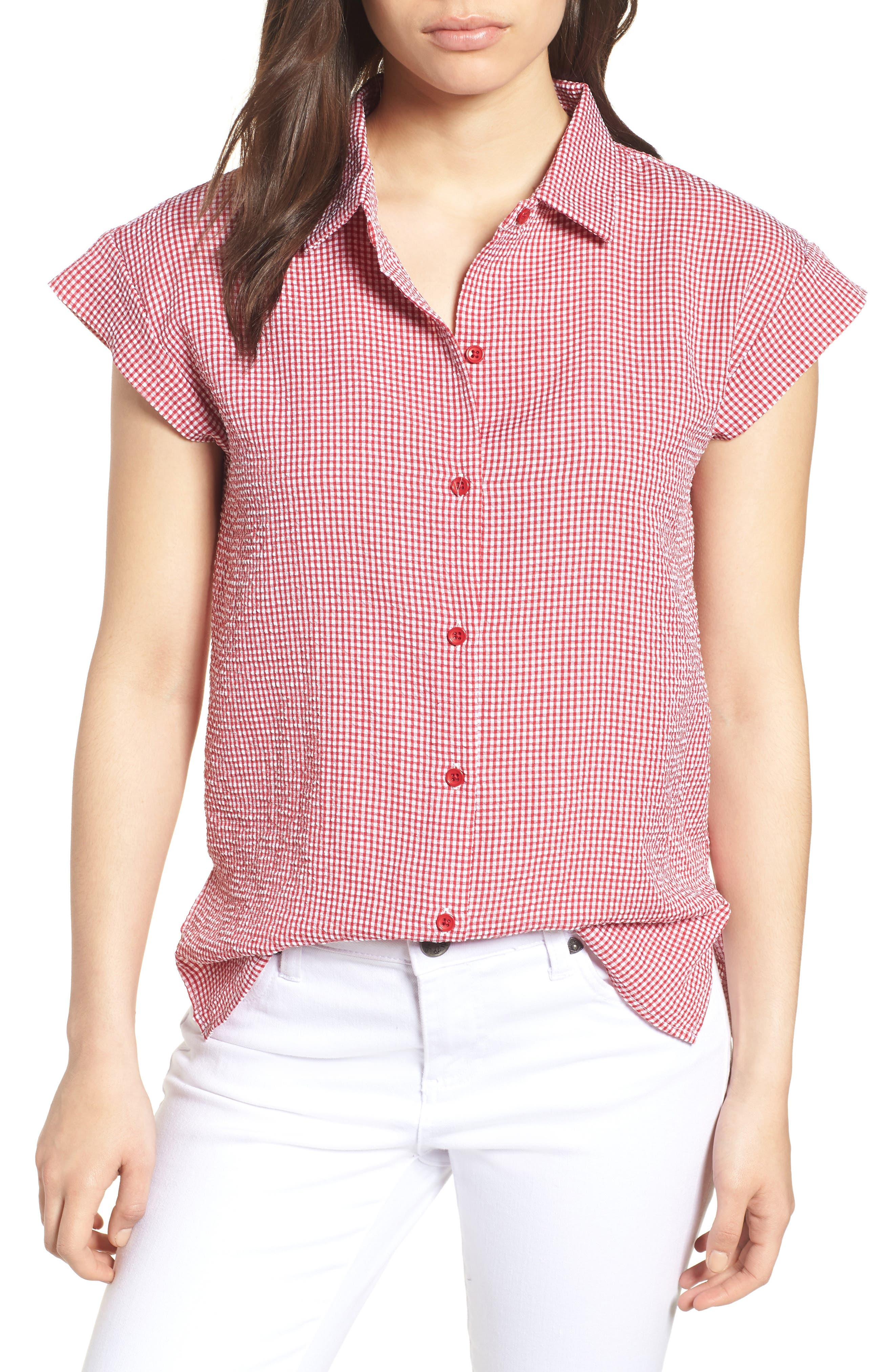 Bobeau Short Sleeve Poplin Shirt