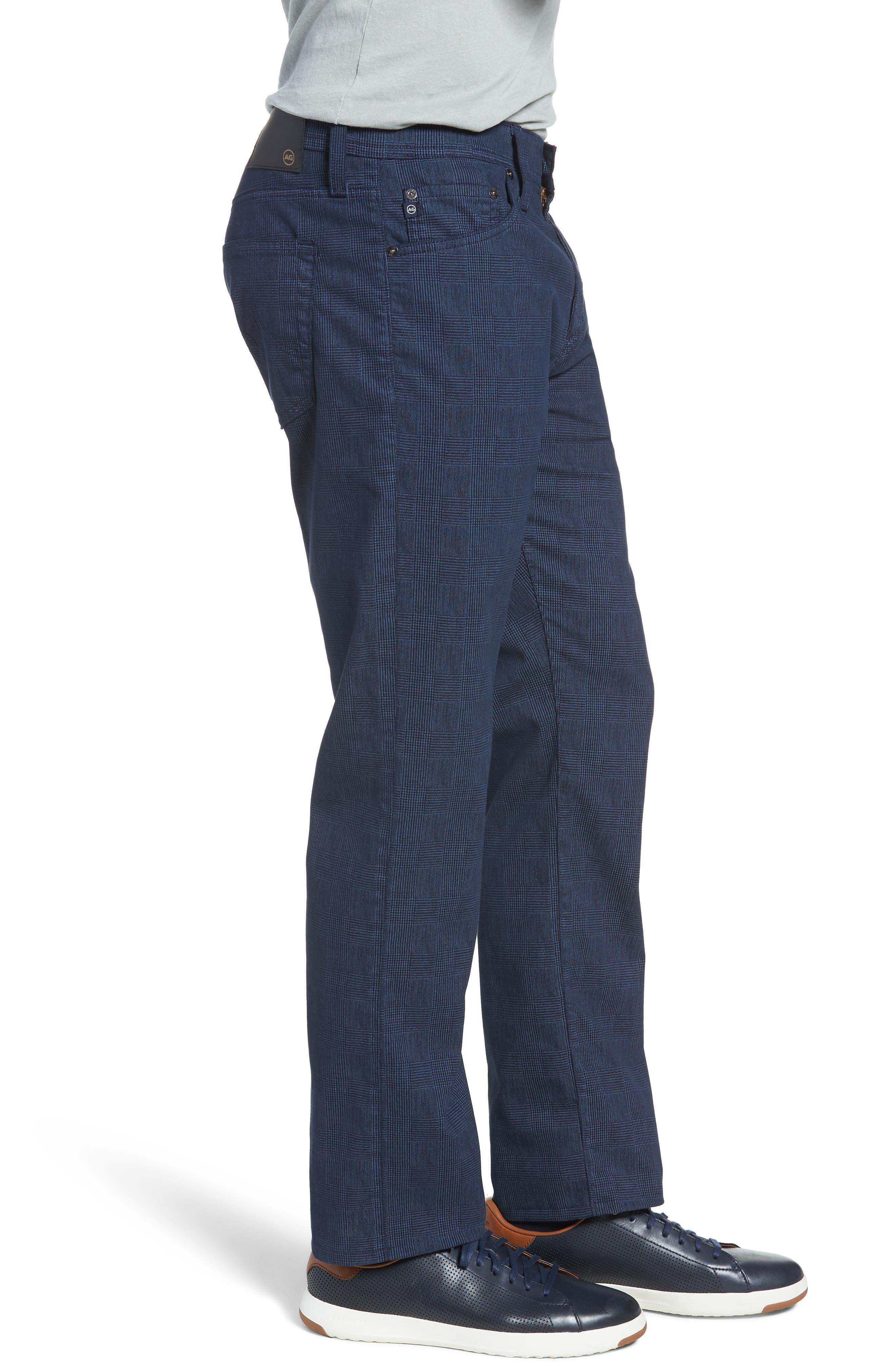Herringbone Everett SUD Straight Leg Pants,                             Alternate thumbnail 3, color,                             Fine Plaid Blue Vault