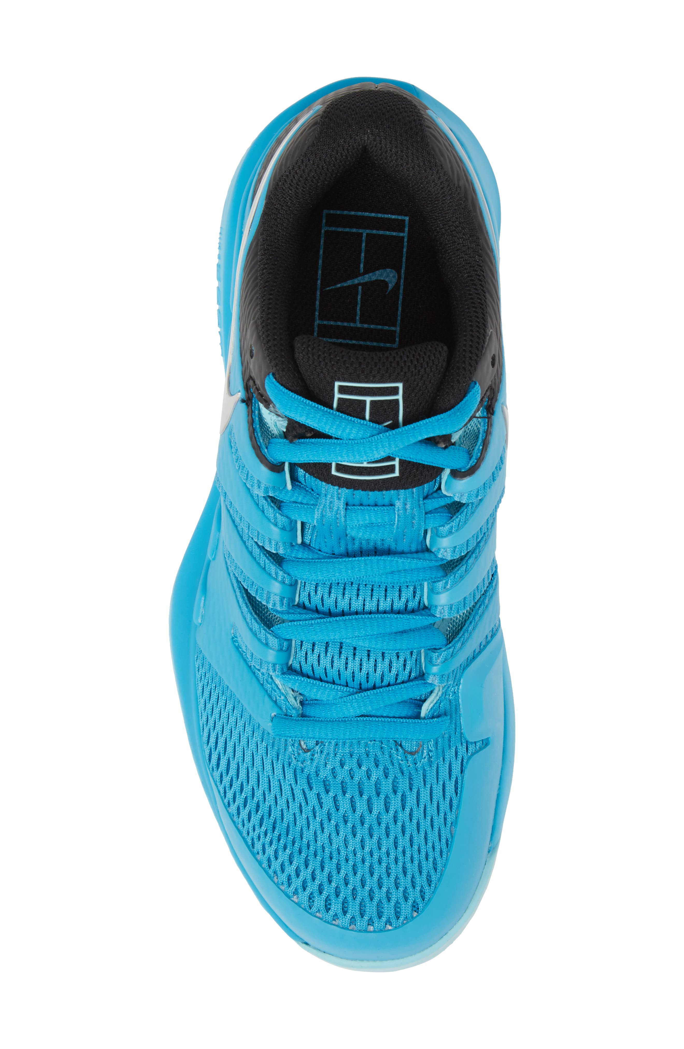 Air Zoom Vapor X Tennis Shoe,                             Alternate thumbnail 5, color,                             Light Blue Fury