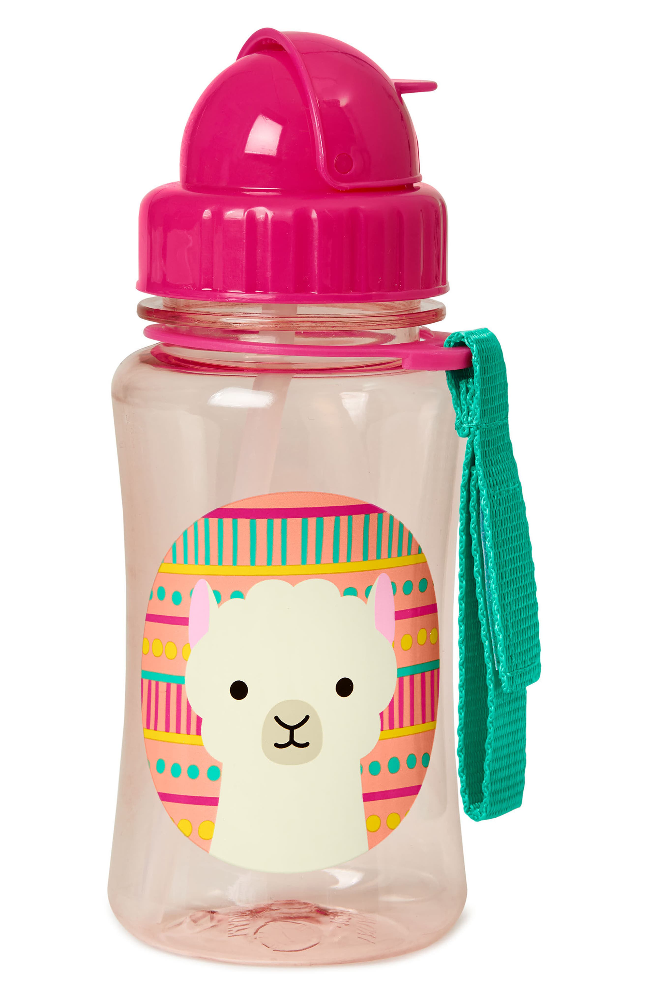 Zoo Straw Bottle,                             Alternate thumbnail 2, color,                             Pink