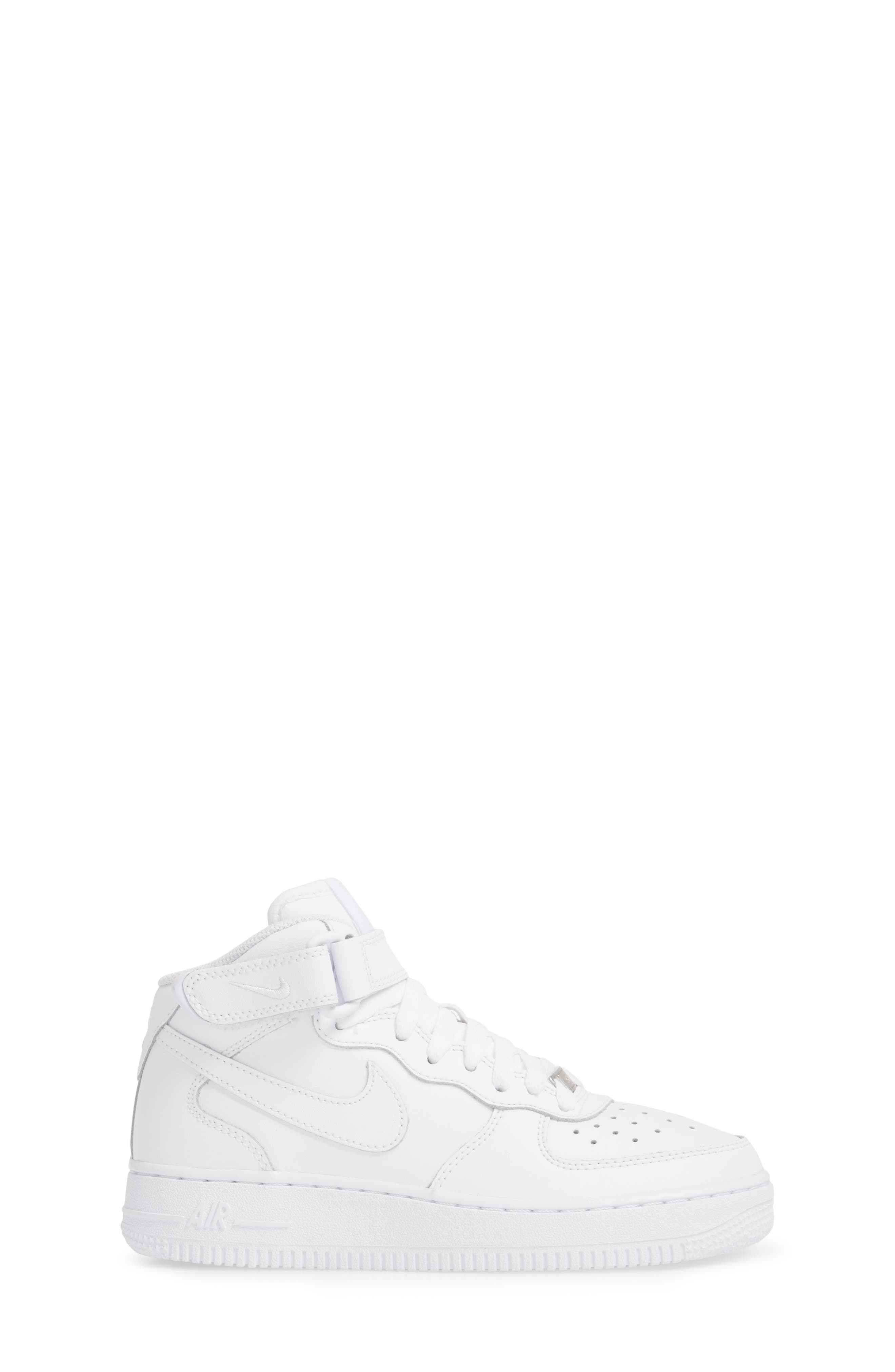 Air Force 1 Mid Top Sneaker,                             Alternate thumbnail 3, color,                             White