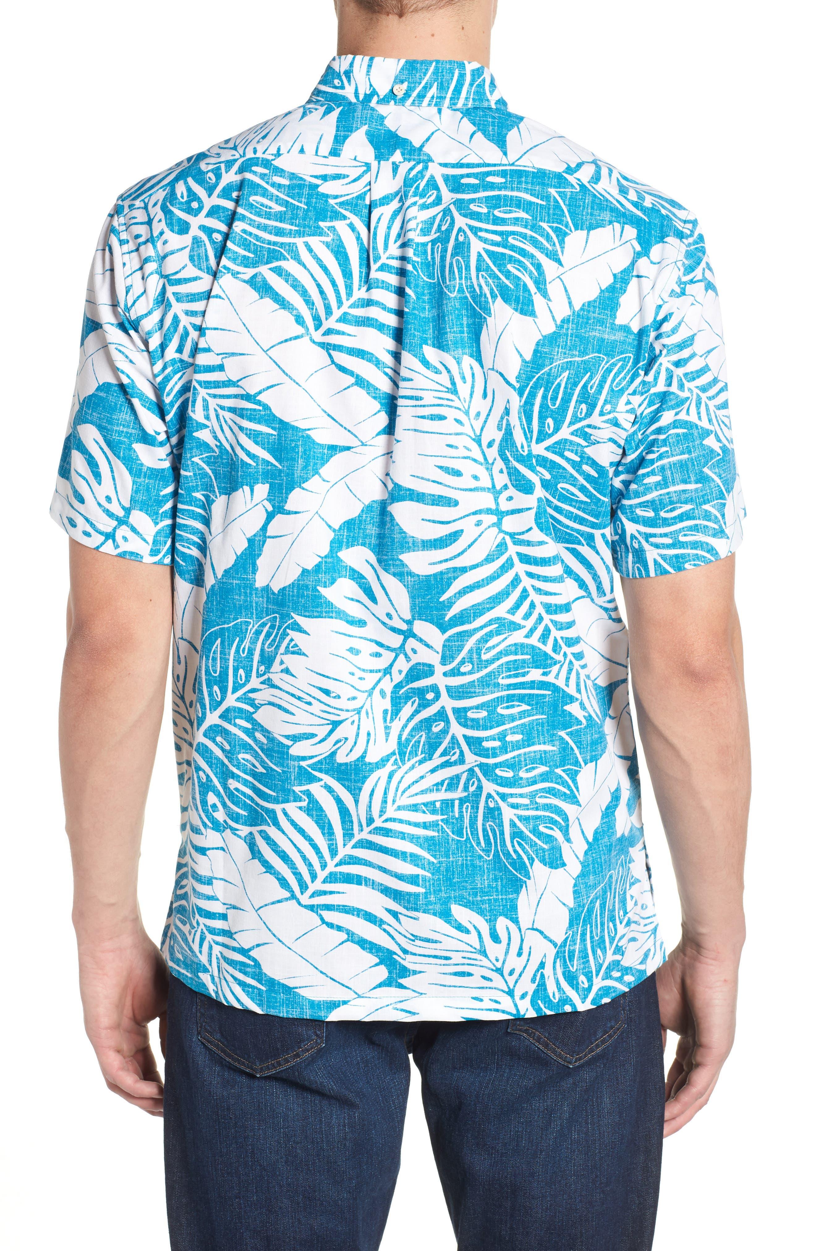 Avenue Falls Classic Fit Sport Shirt,                             Alternate thumbnail 3, color,                             Blue