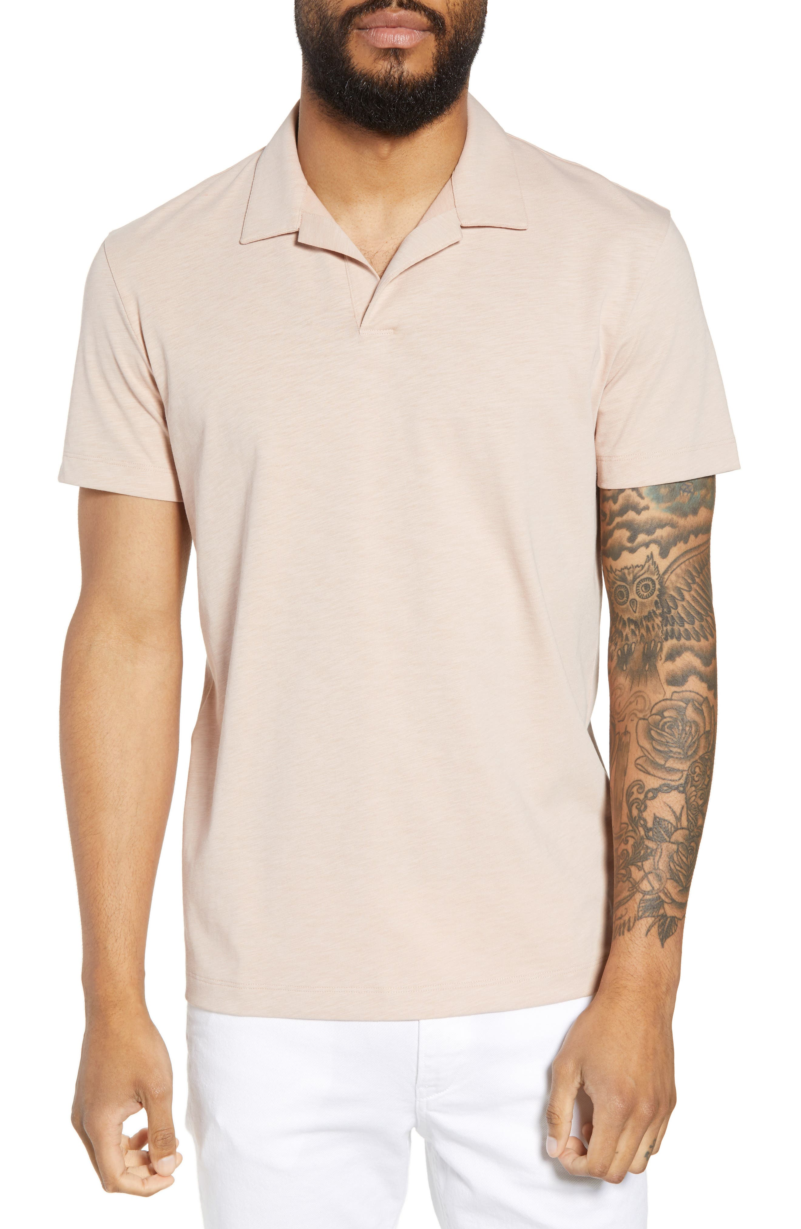 Willem Strato Regular Fit Polo,                             Main thumbnail 1, color,                             Petal