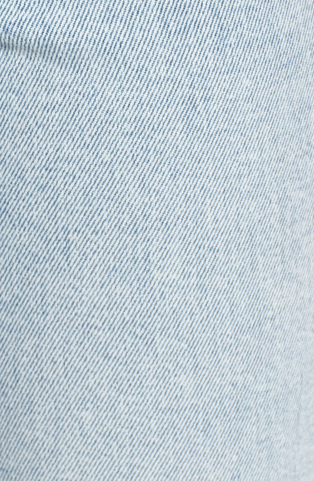 Acid Wash High Waist Crop Jeans,                             Alternate thumbnail 3, color,                             Light Acid