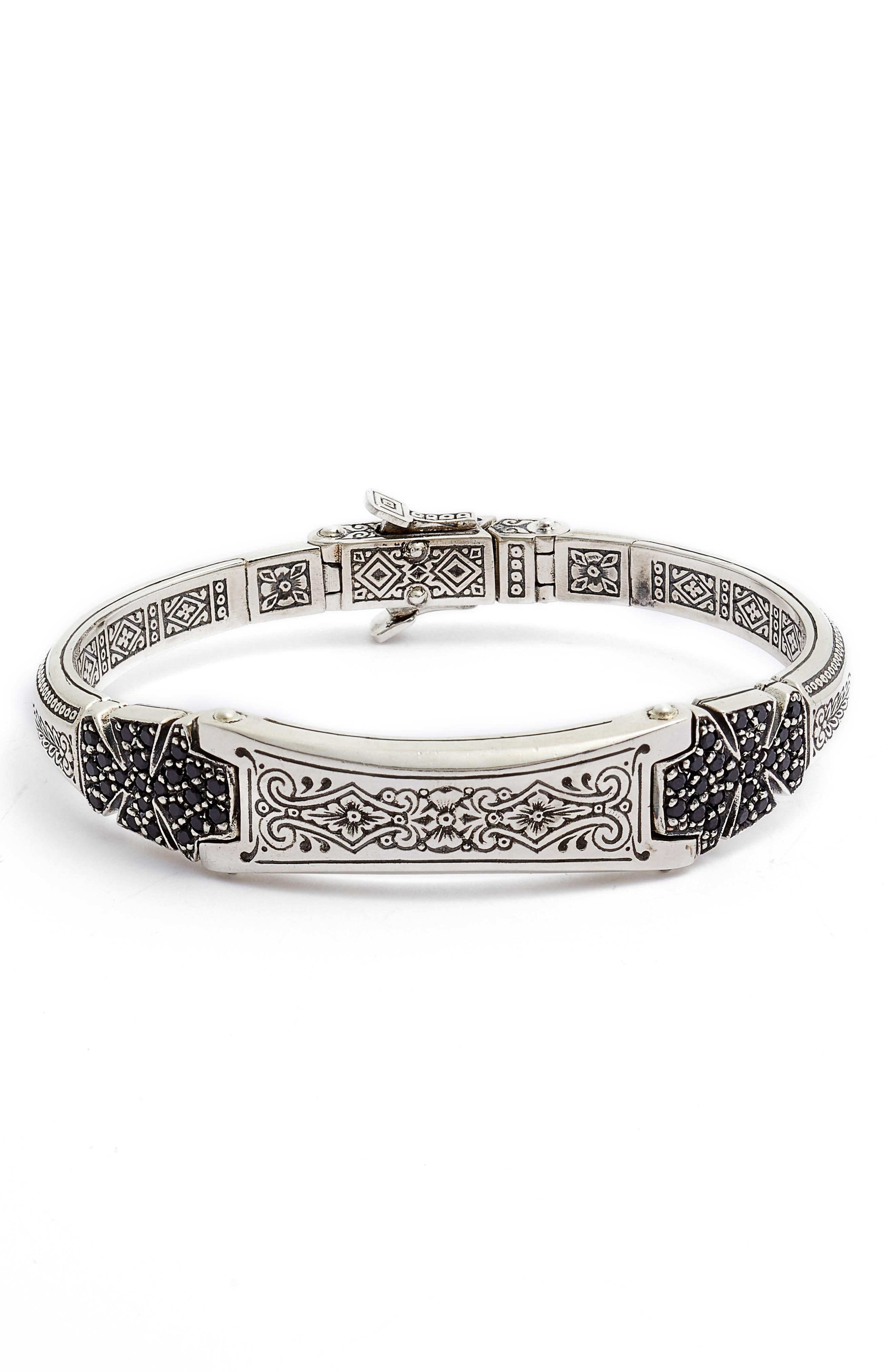Konstantino Double Stavros Spinel Cross Cuff Bracelet