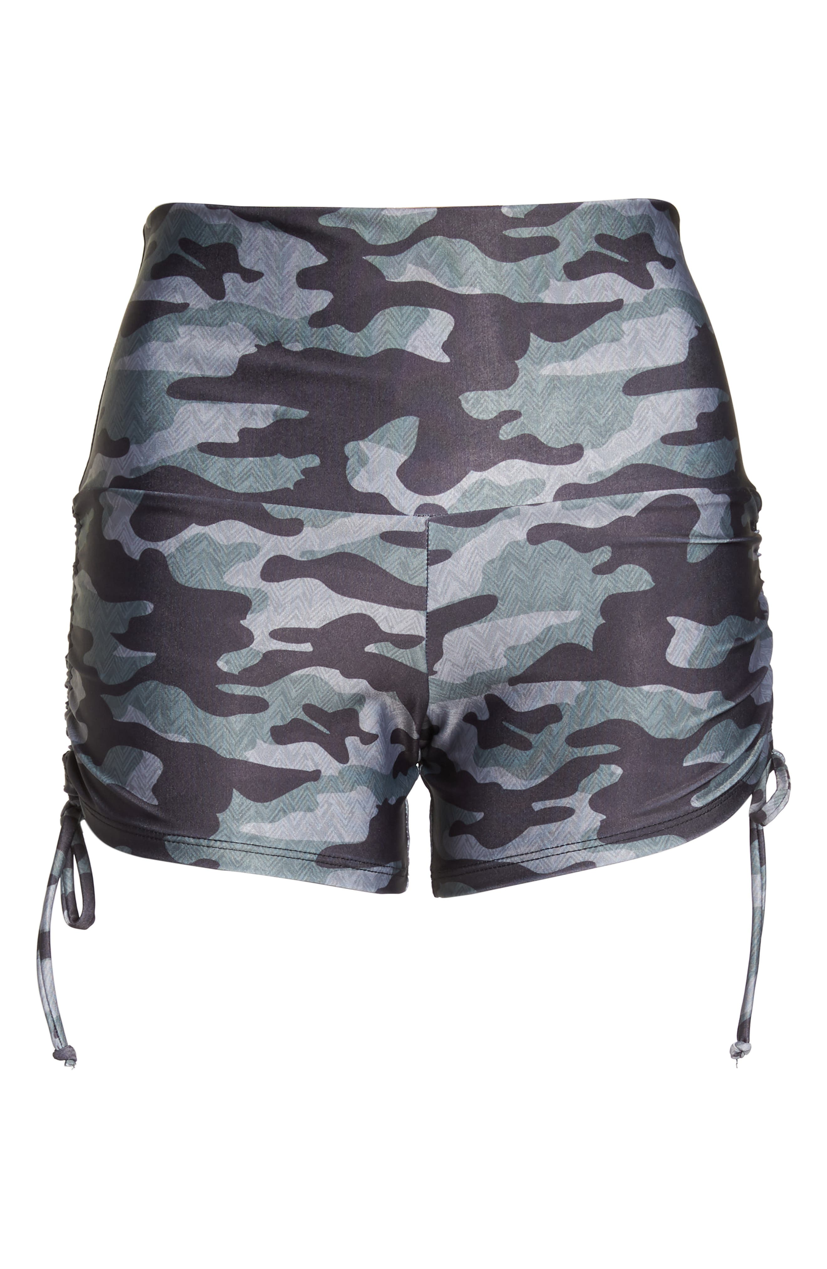 La Coqueta Swim Bottoms,                             Alternate thumbnail 7, color,                             Distressed Camo