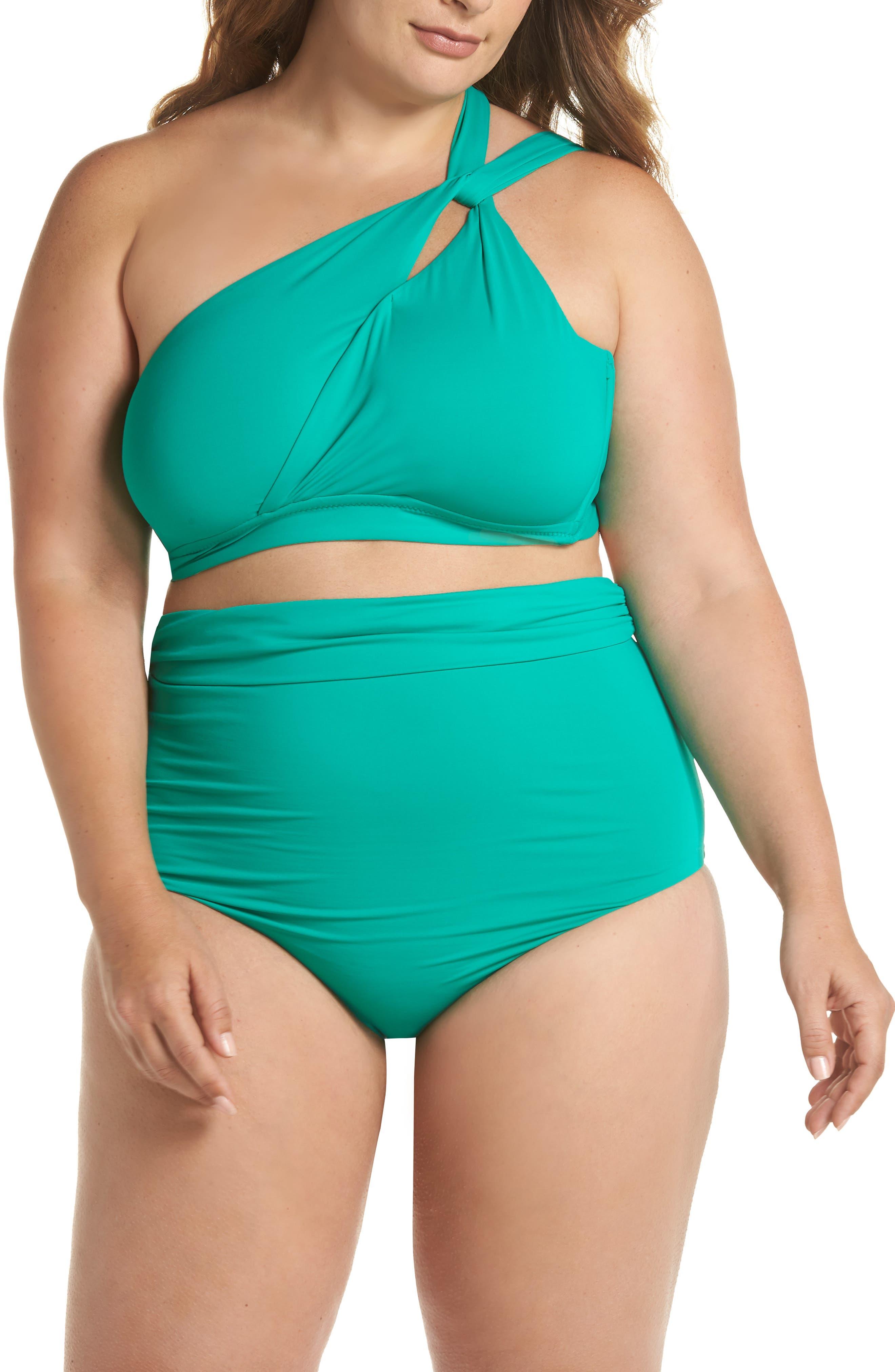 Color Splash Bikini Top,                             Alternate thumbnail 6, color,                             Emerald