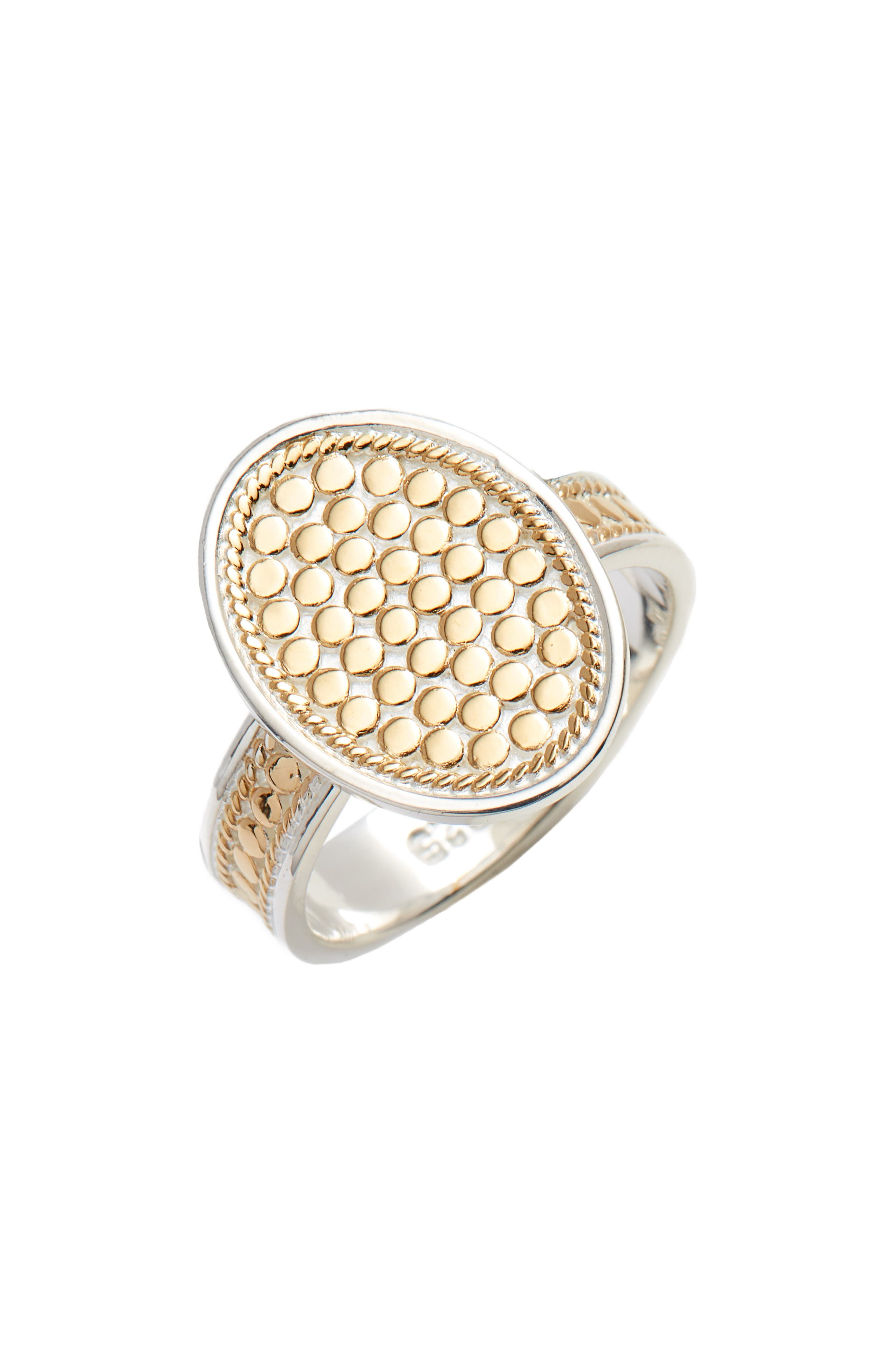 OVAL SKINNY BAND RING
