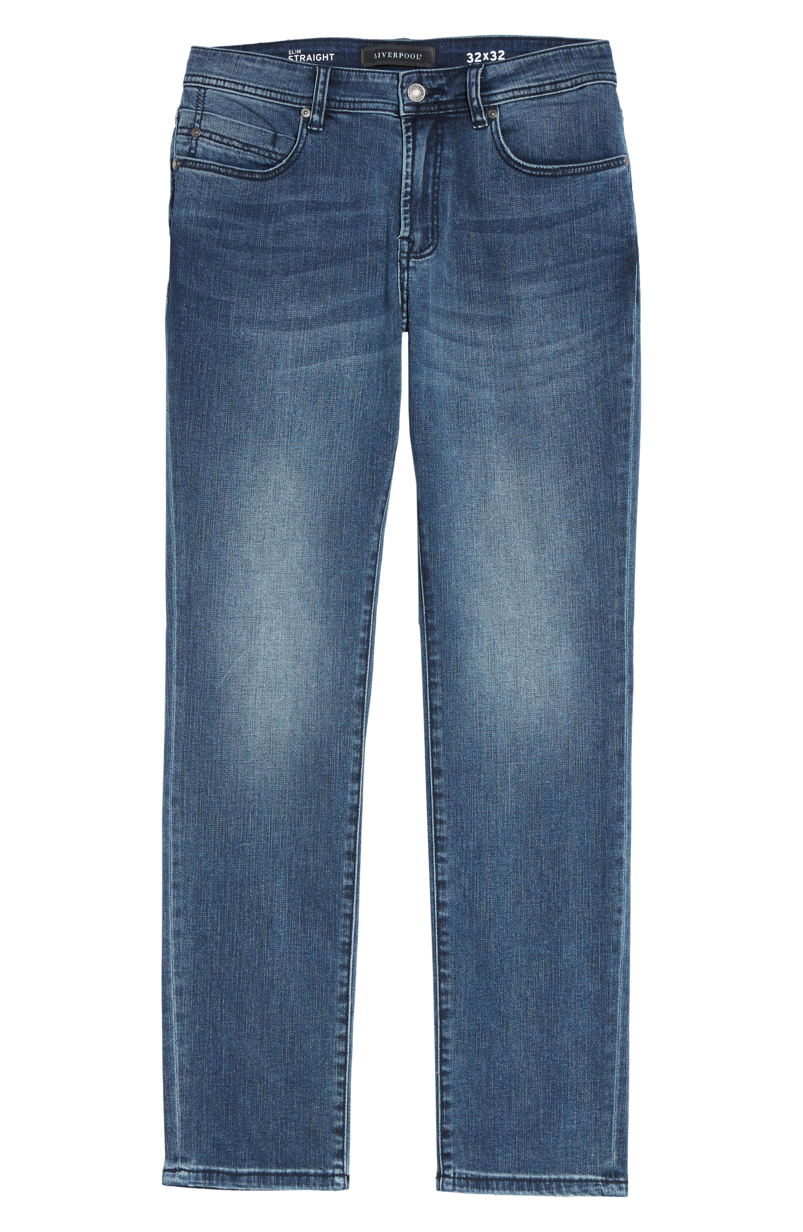 Jeans Co. Slim Straight Leg Jeans,                             Alternate thumbnail 6, color,                             Southaven Mid Blue