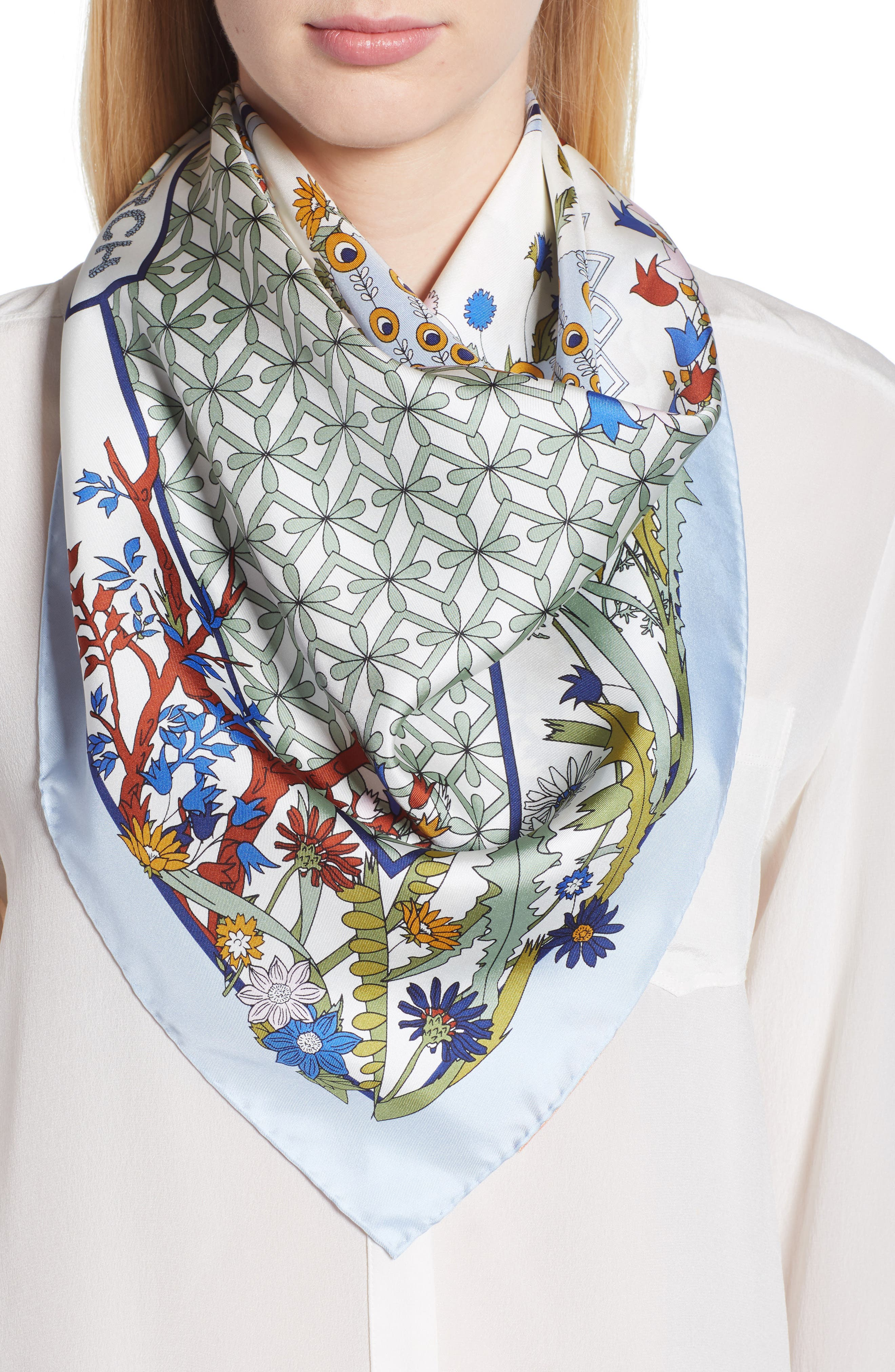 tory burch meadow folly silk square scarf by tory burch best prices