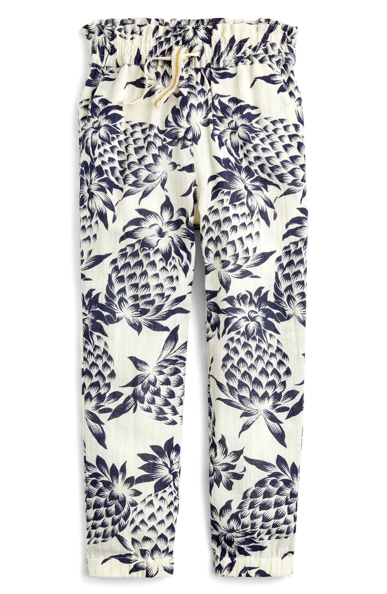 Wallace Pineapple Print Pants,                         Main,                         color, Champagne Indigo