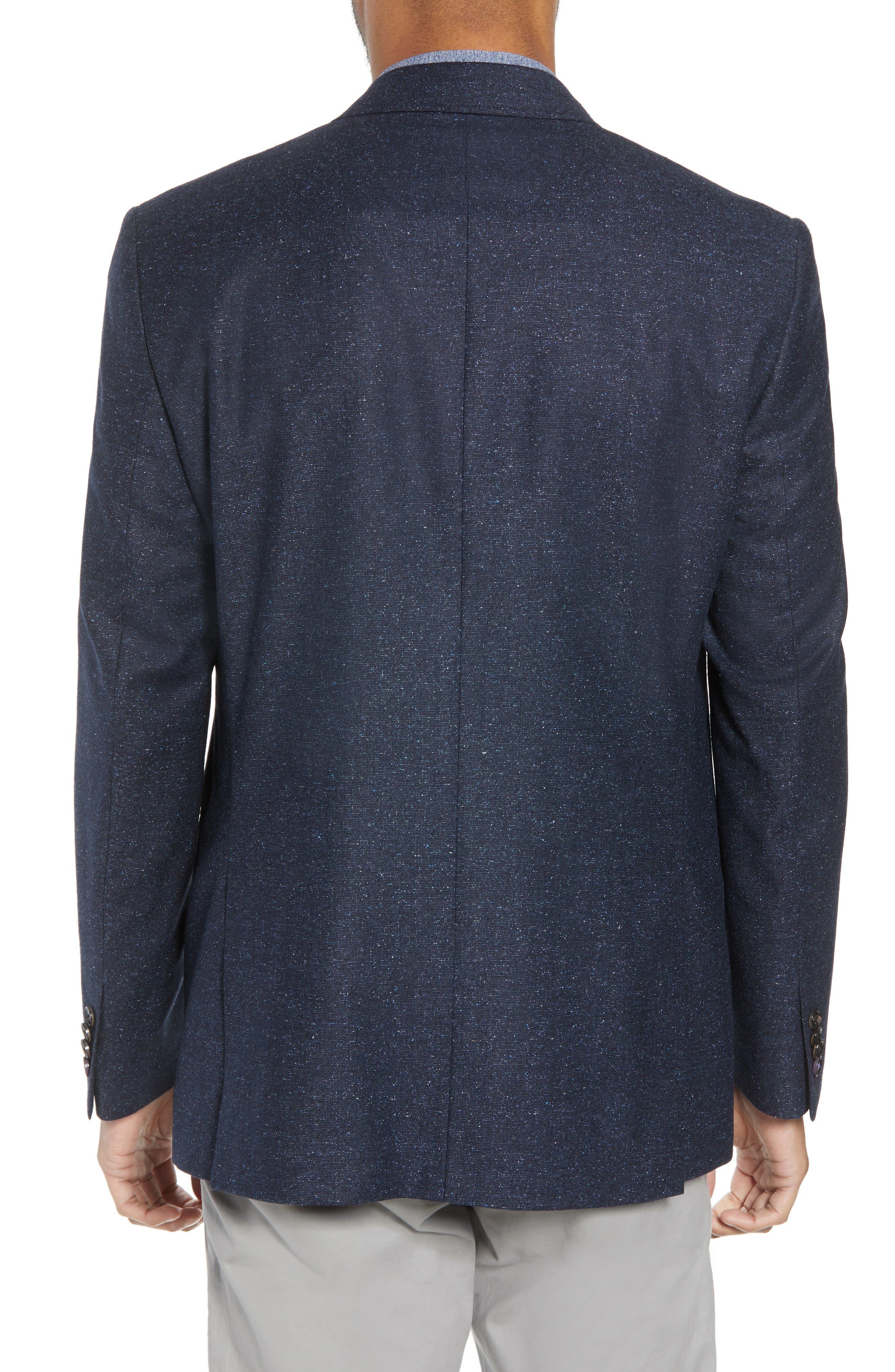 Jay Trim Fit Tweed Wool & Silk Sport Coat,                             Alternate thumbnail 2, color,                             Blue