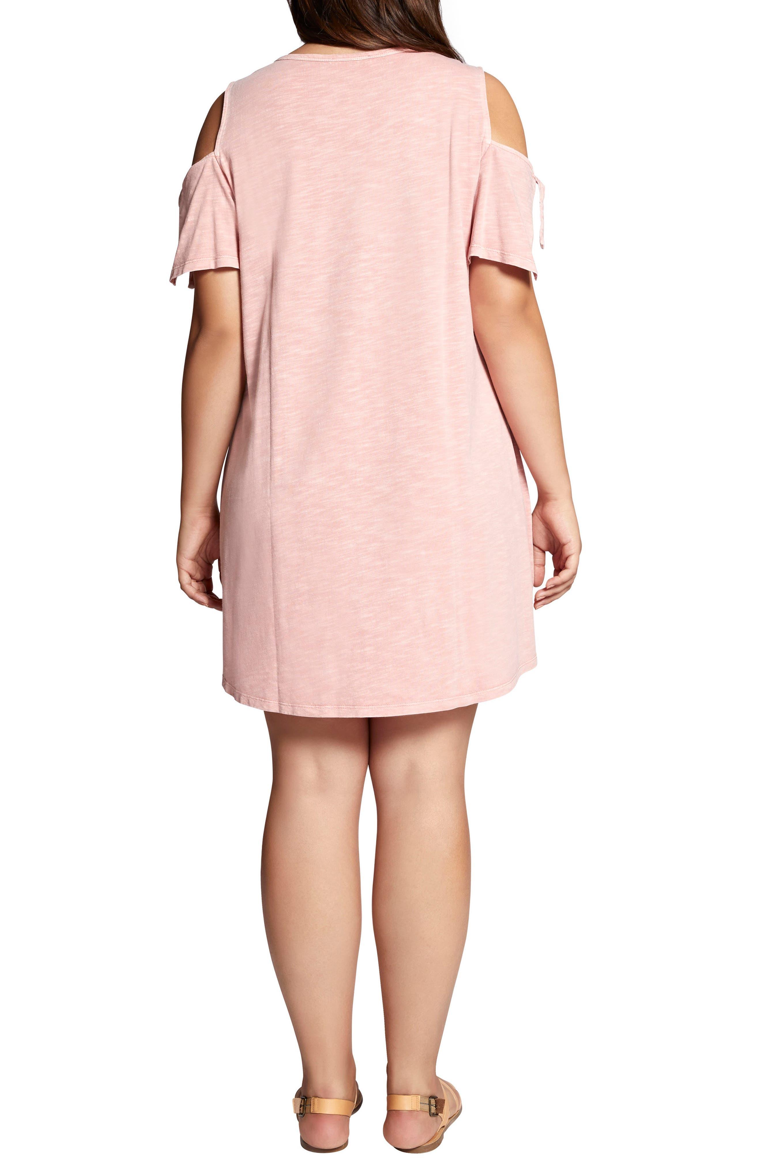 Lakeside T-Shirt Dress,                             Alternate thumbnail 2, color,                             Adobe