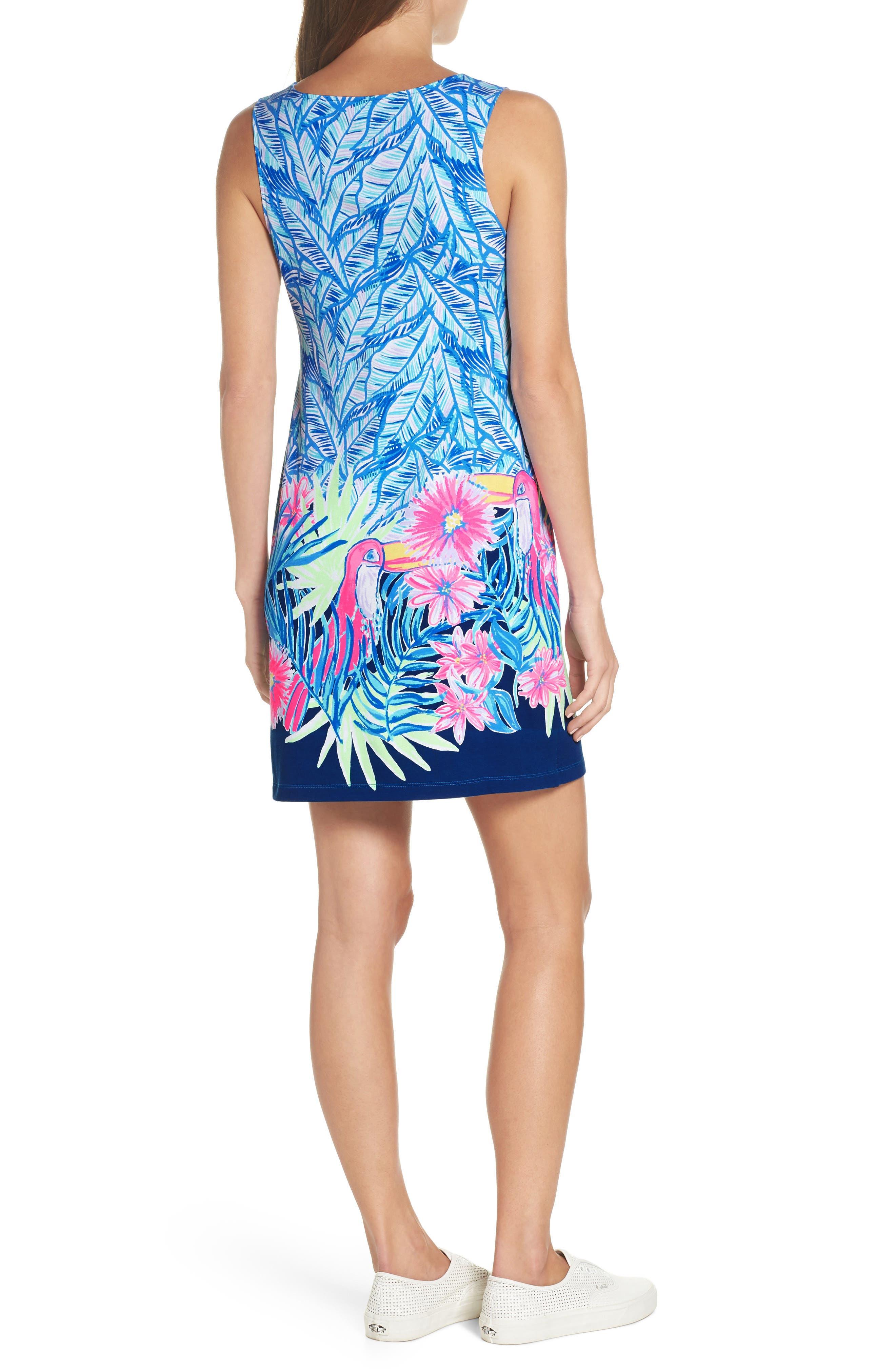 Harper Sleeveless Dress,                             Alternate thumbnail 2, color,                             Bennet Blue Lets Mango