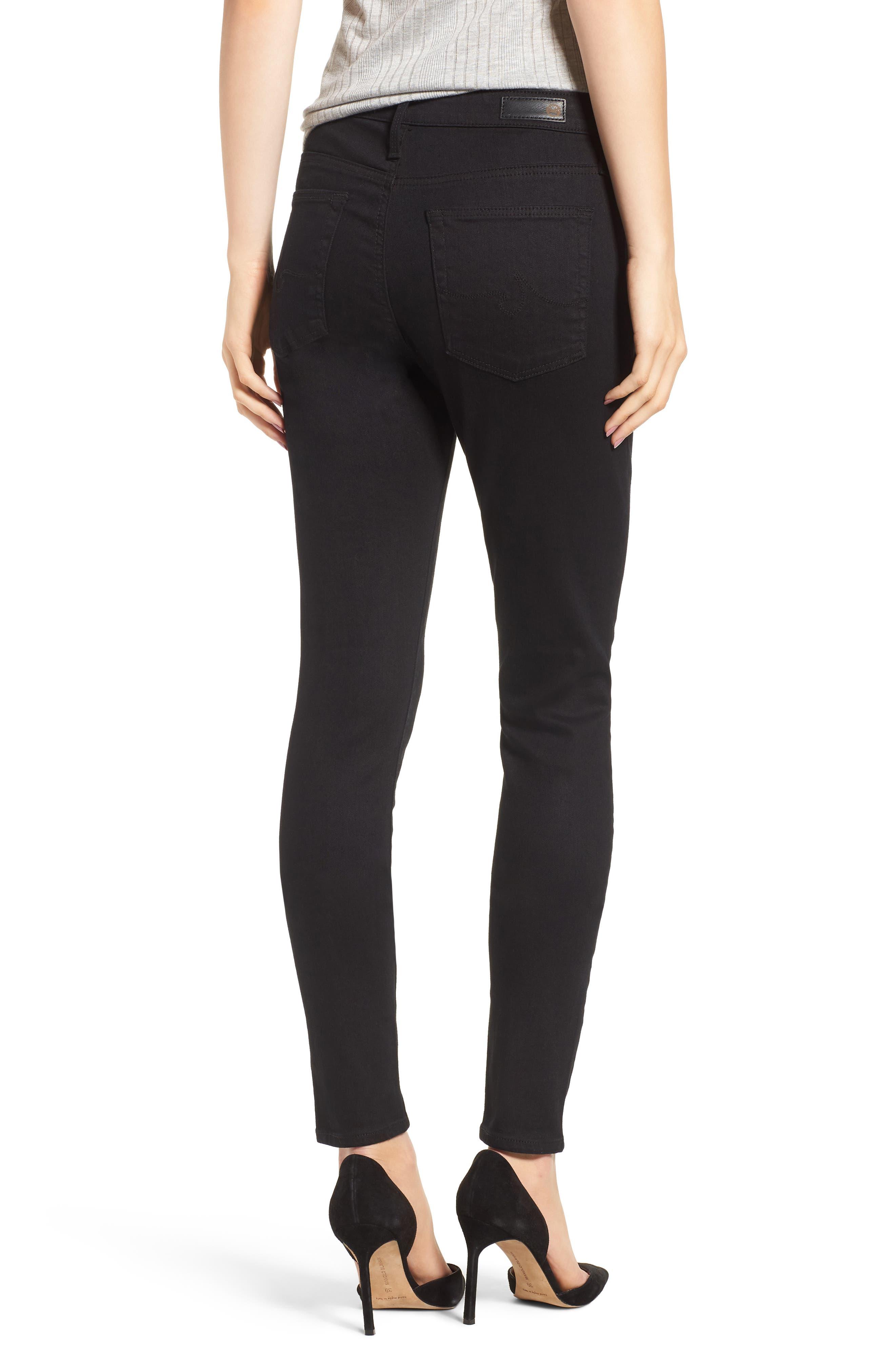 'The Farrah' High Rise Skinny Jeans,                             Alternate thumbnail 2, color,                             Overdyed Black