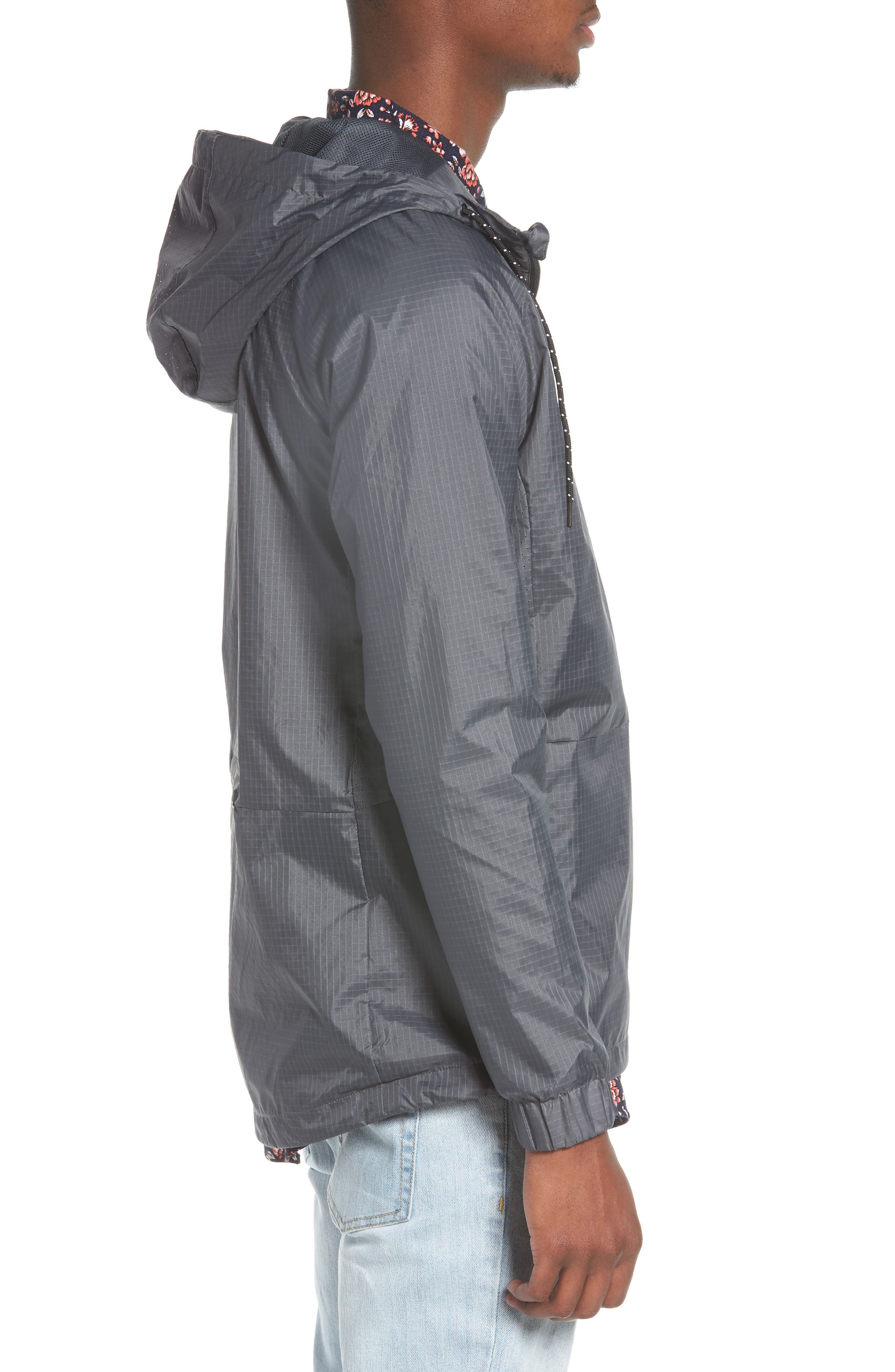 NCT Bezel Packable Anorak,                             Alternate thumbnail 3, color,                             Asphalt