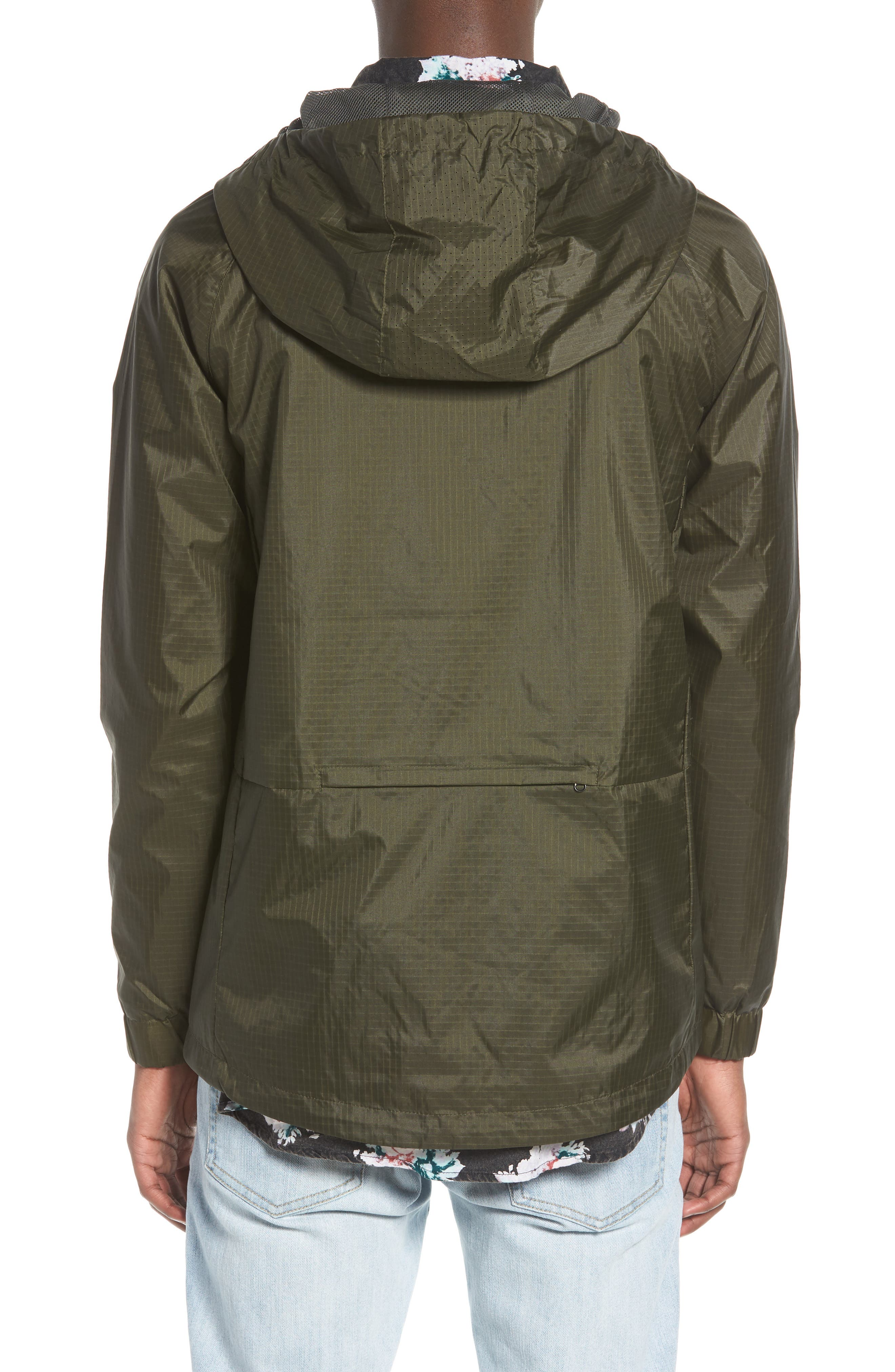 NCT Bezel Packable Anorak,                             Alternate thumbnail 2, color,                             Olive