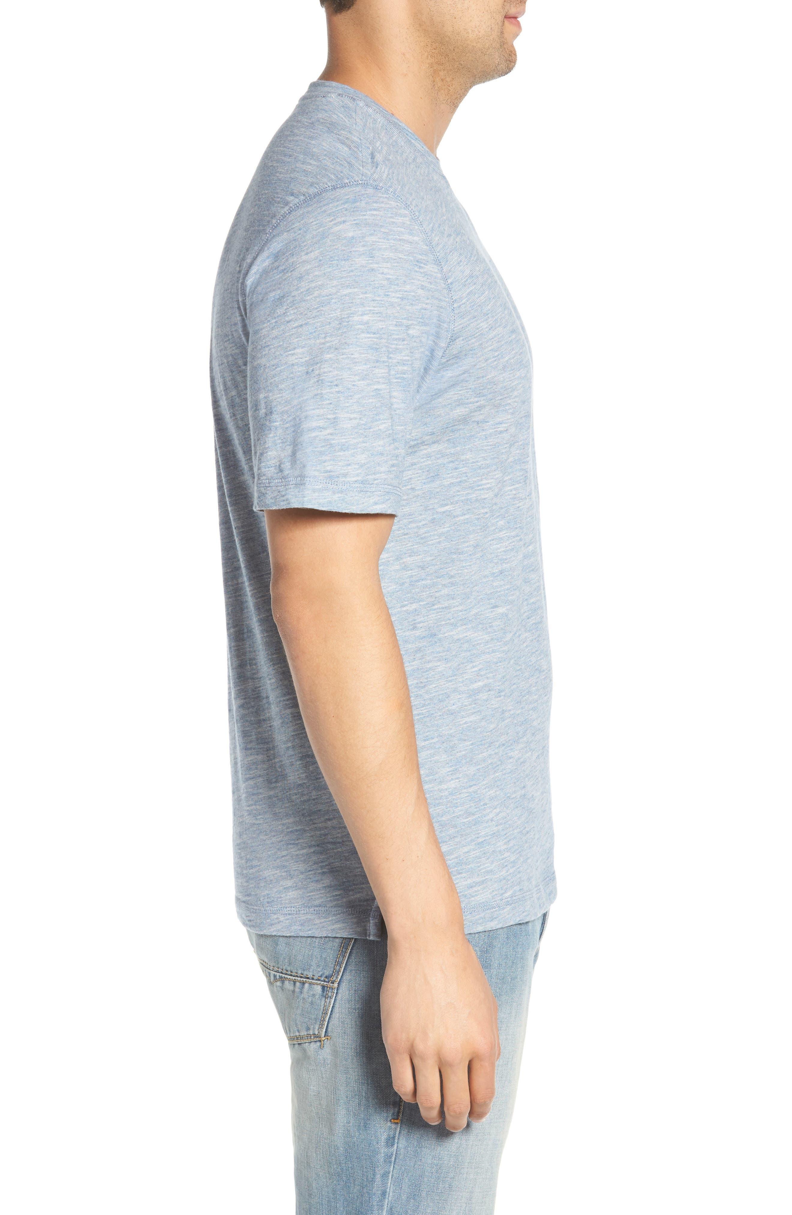 Slubbie Regular Fit Crewneck T-Shirt,                             Alternate thumbnail 3, color,                             Meteor