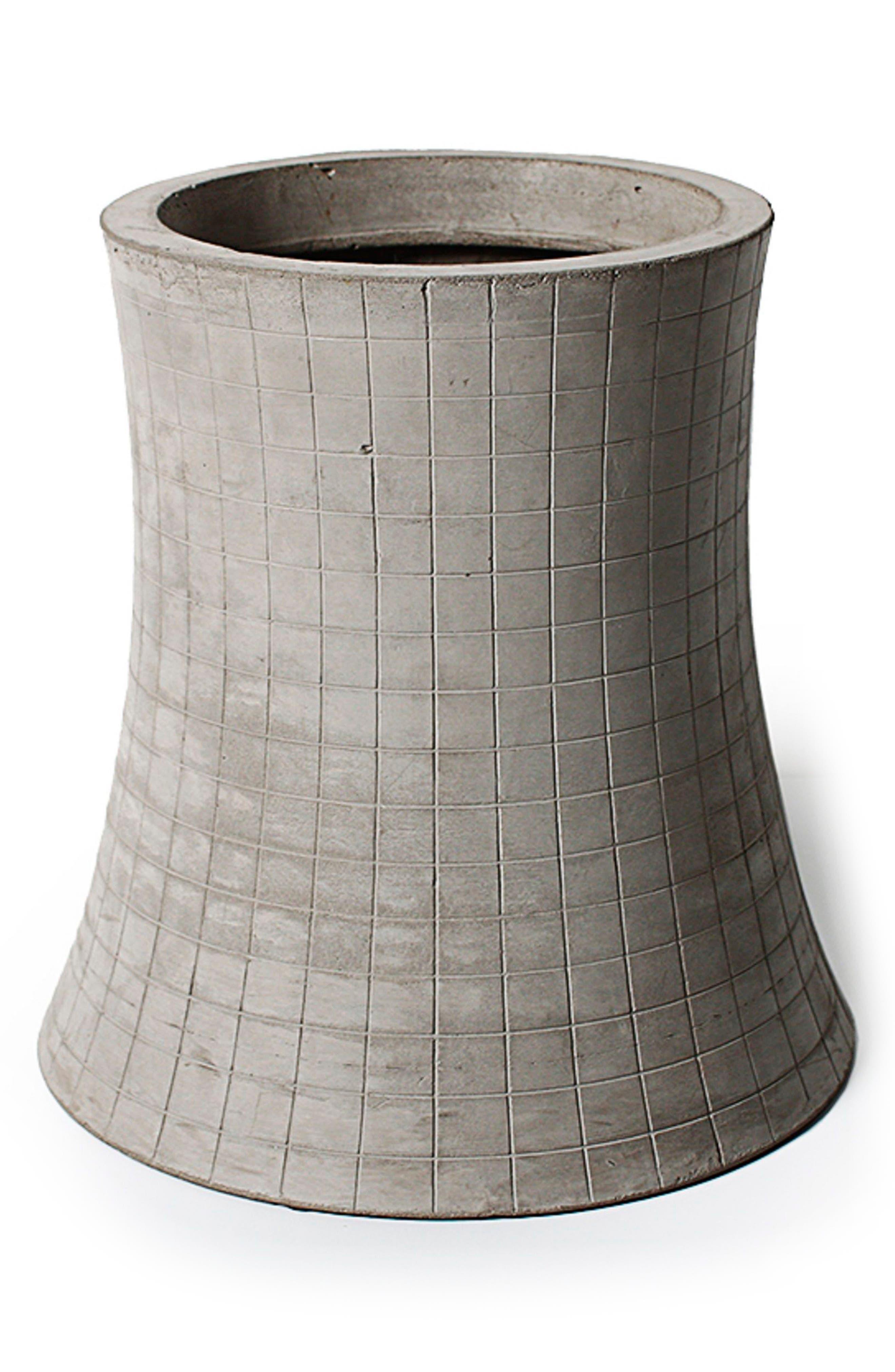Lyon Béton Nuclear Plant Flower Pot,                         Main,                         color, Cement