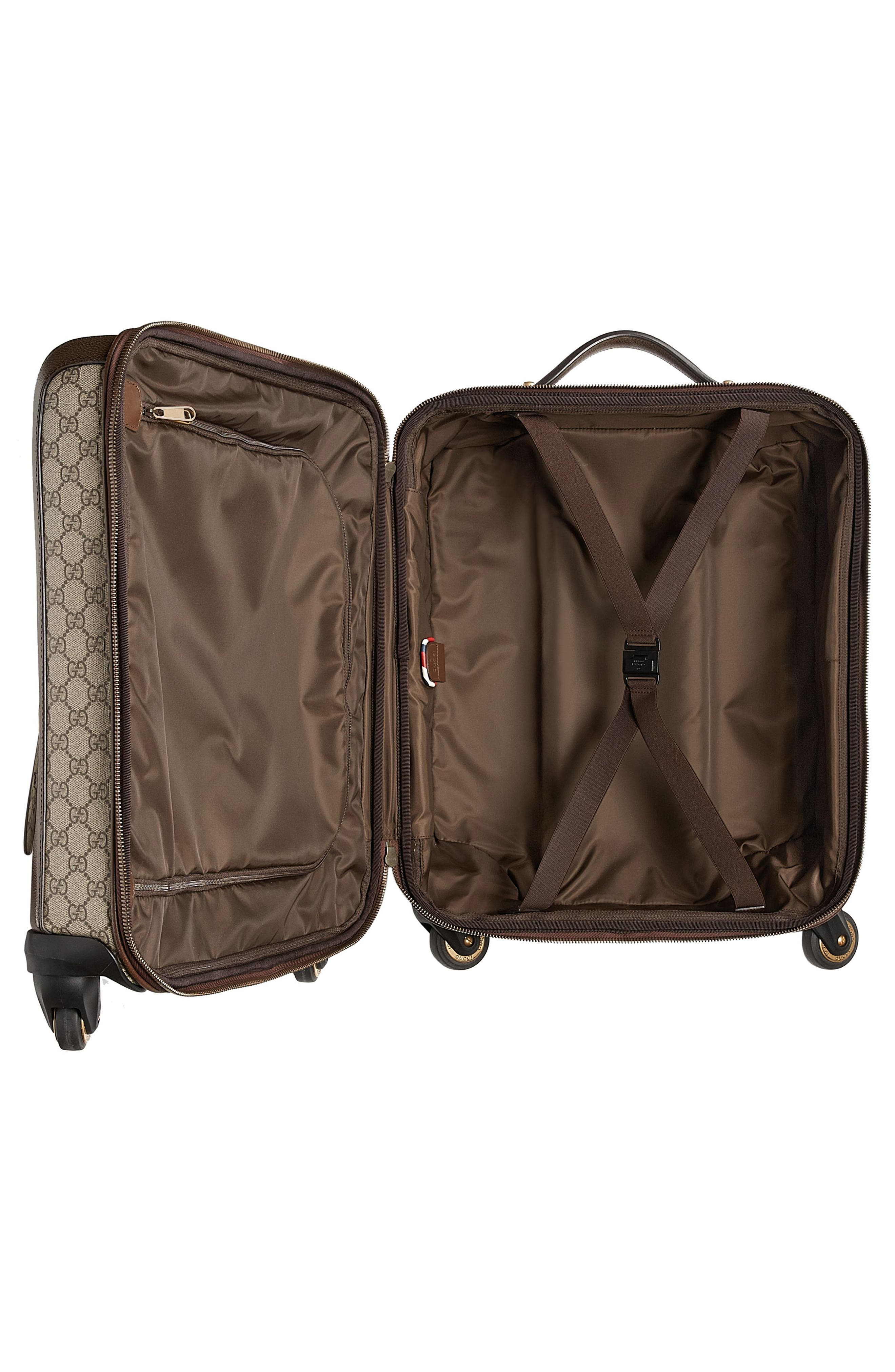 Courier GG Supreme Patches Carry-On,                             Alternate thumbnail 4, color,                             Beige