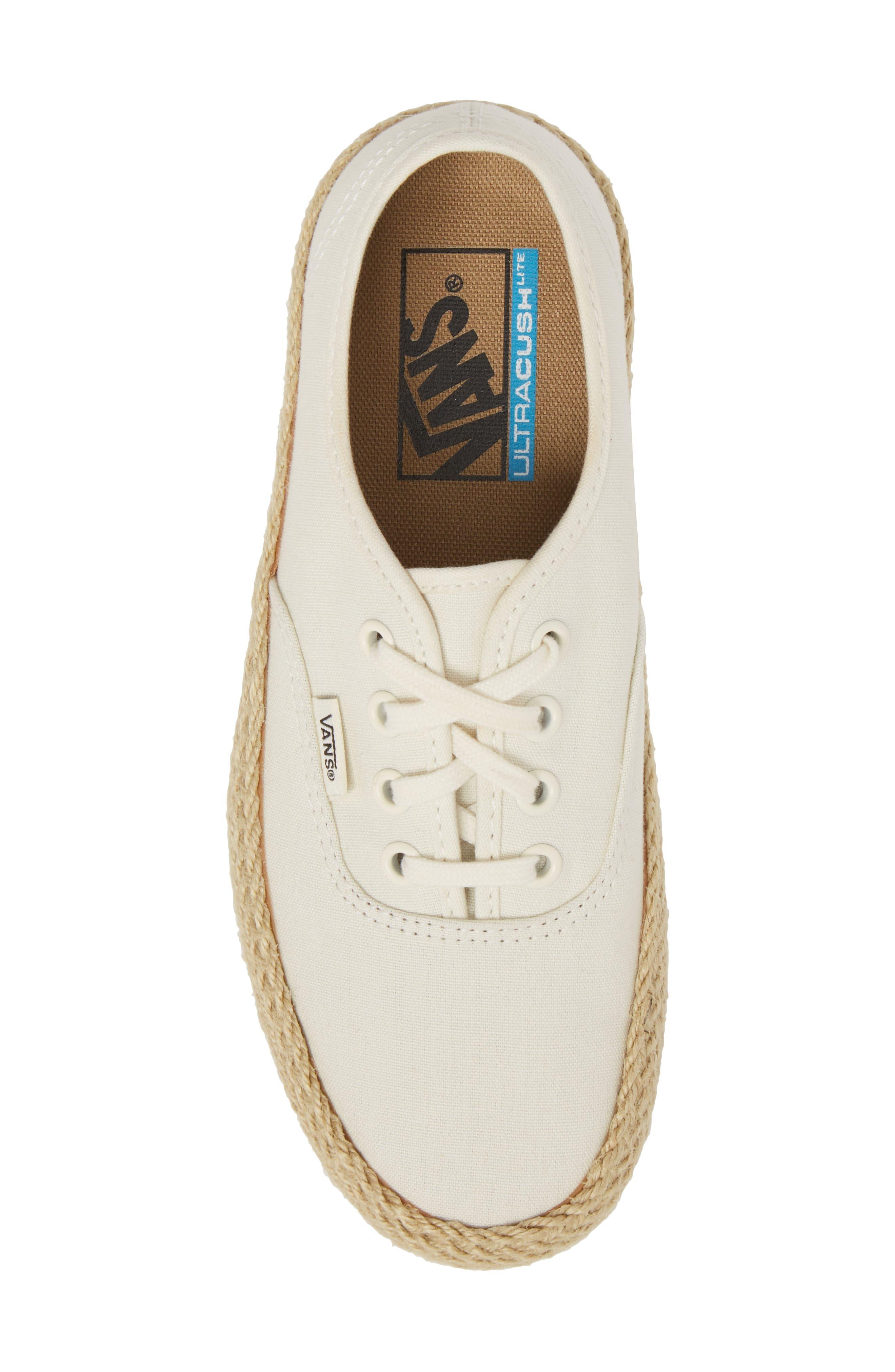Authentic Espadrille Platform Sneaker,                             Alternate thumbnail 5, color,                             Marshmallow