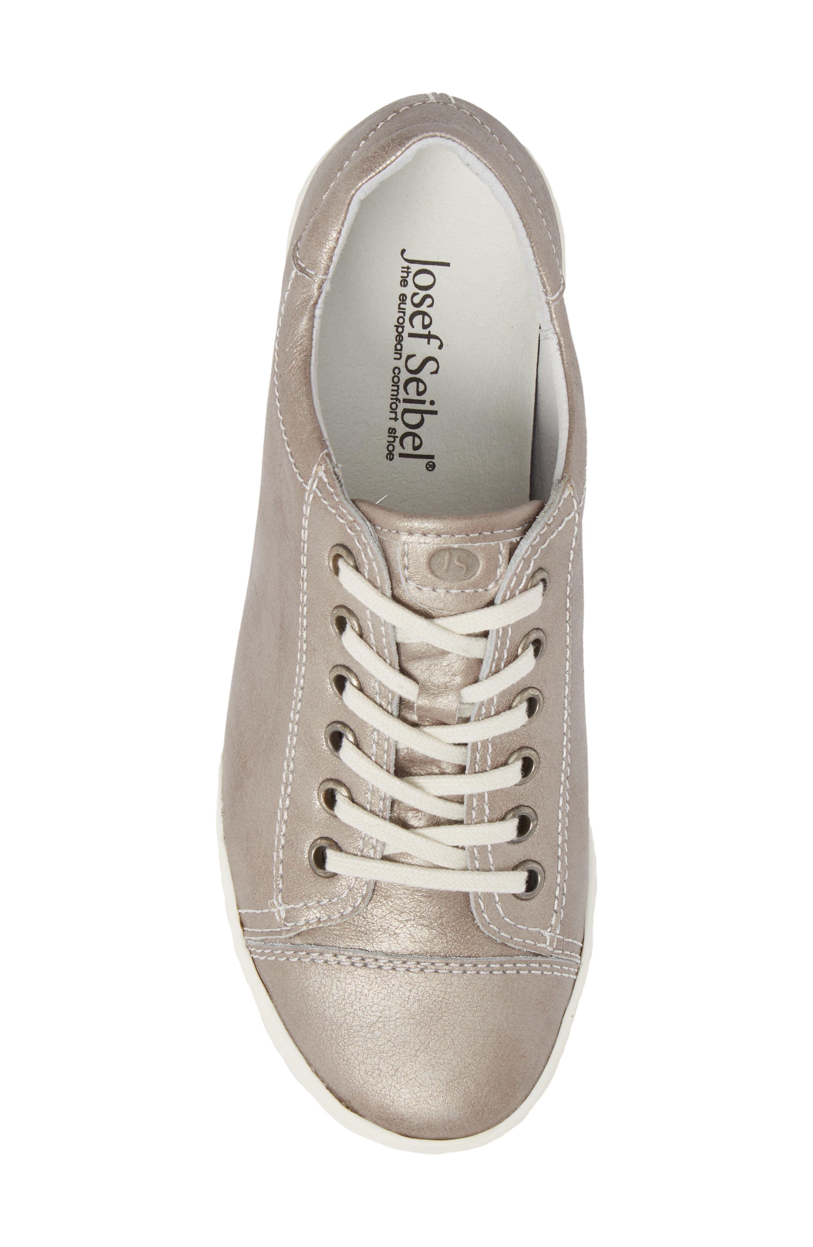 Sina 11 Sneaker,                             Alternate thumbnail 5, color,                             Platin Leather