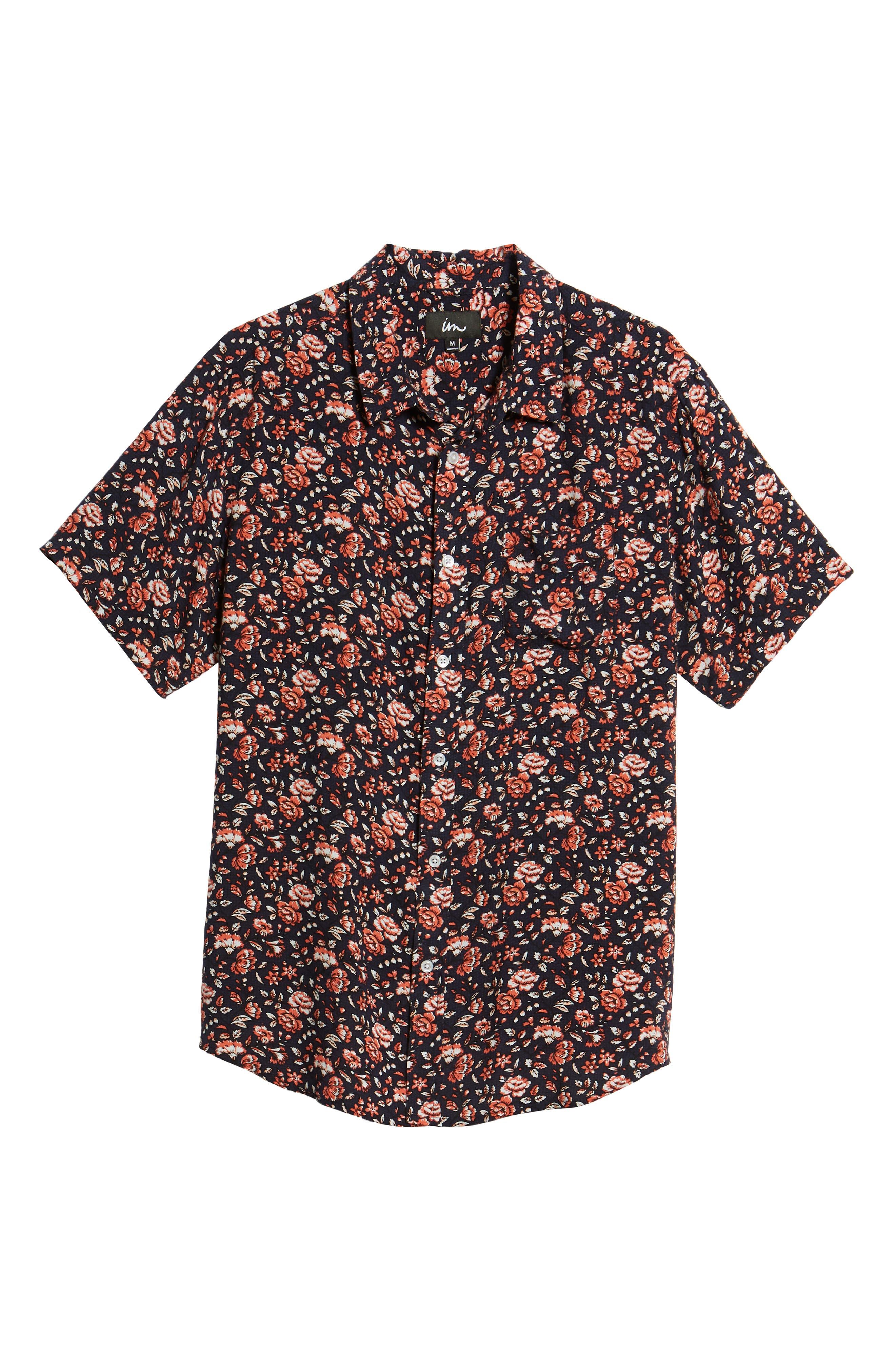 Synth Woven Shirt,                             Alternate thumbnail 6, color,                             Navy