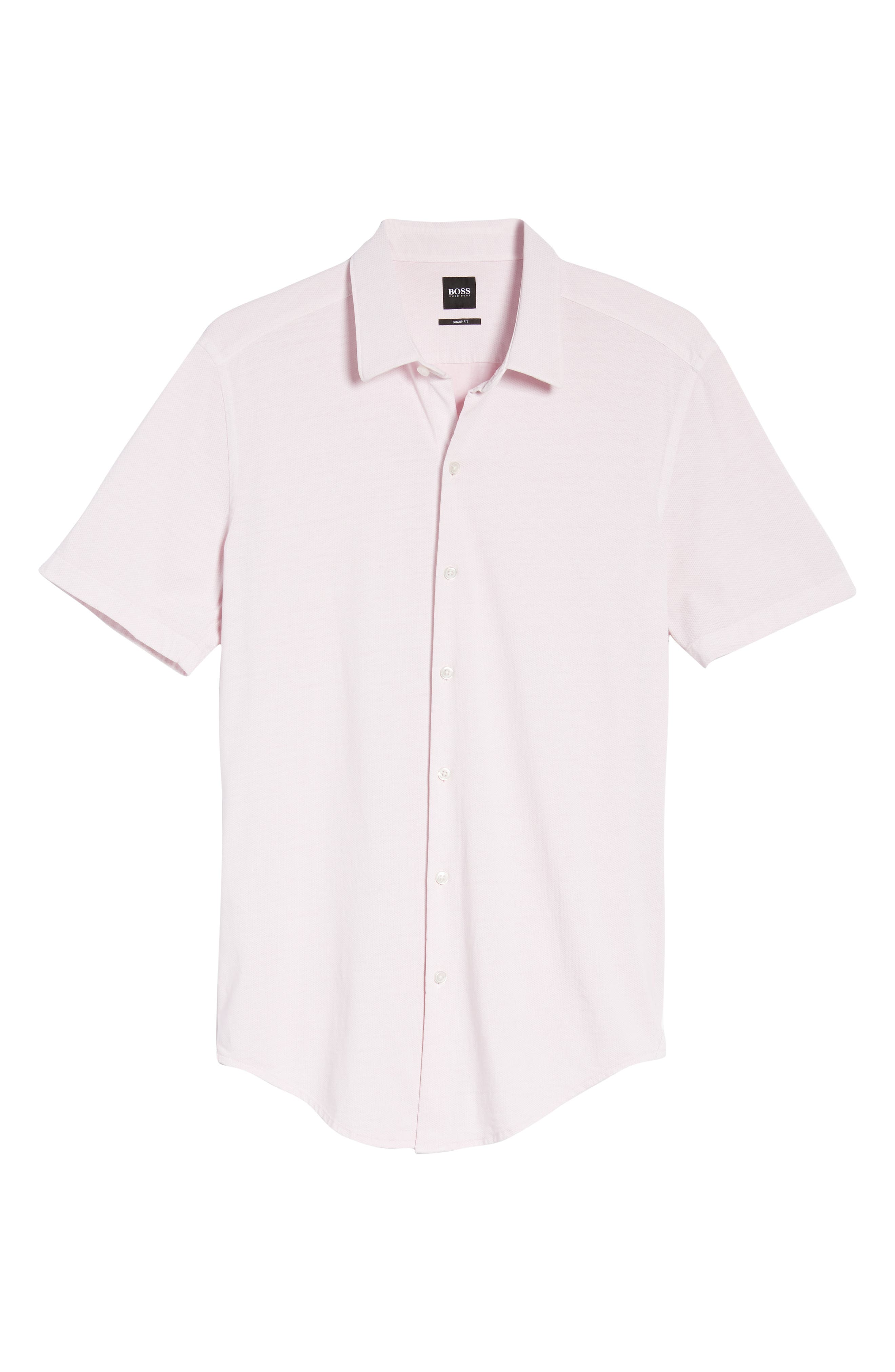 Robb Trim Fit Jersey Sport Shirt,                             Alternate thumbnail 6, color,                             Pink