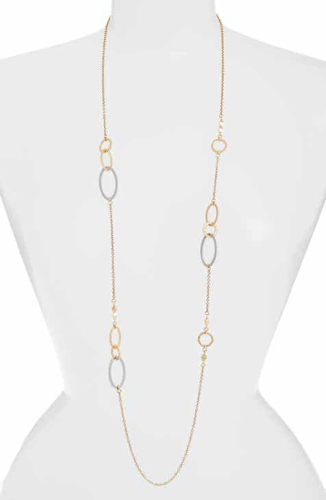 Womens long strand necklaces nordstrom treasure bond two tone oval station necklace aloadofball Gallery