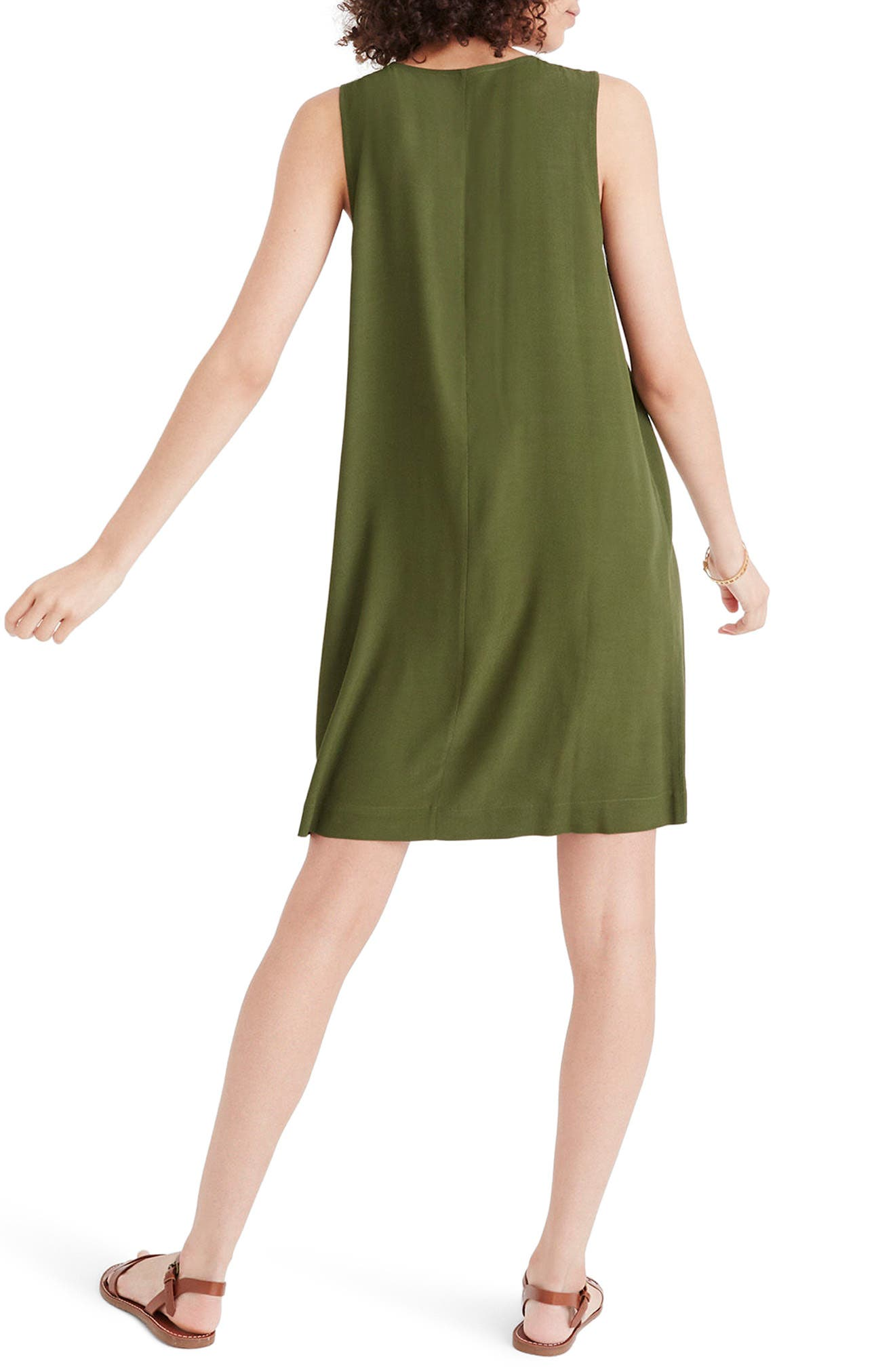 Heather Button Front Dress,                             Alternate thumbnail 2, color,                             Sweet Balsam