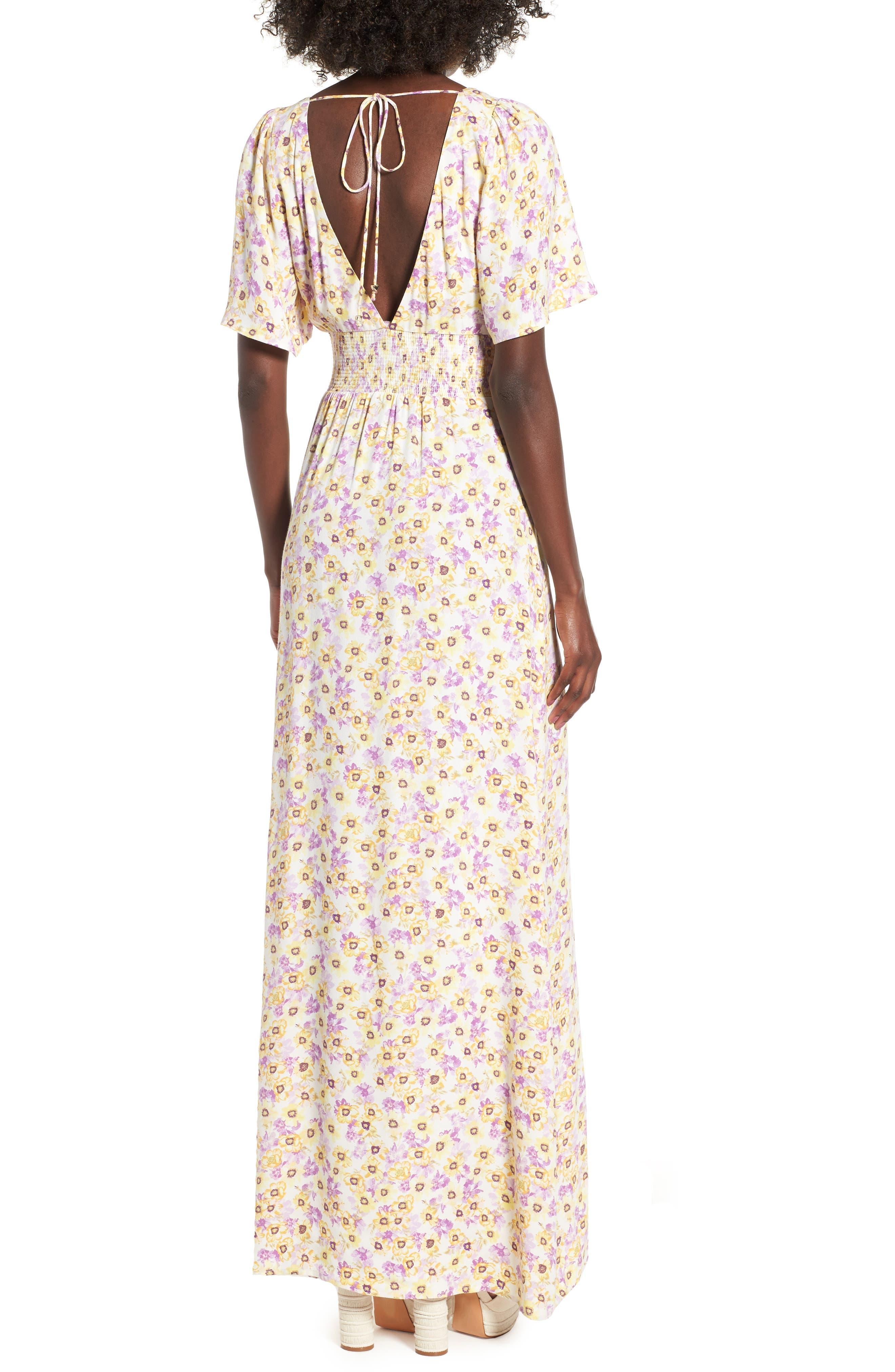 Tuscany Maxi Dress,                             Alternate thumbnail 2, color,                             Yellow Garden