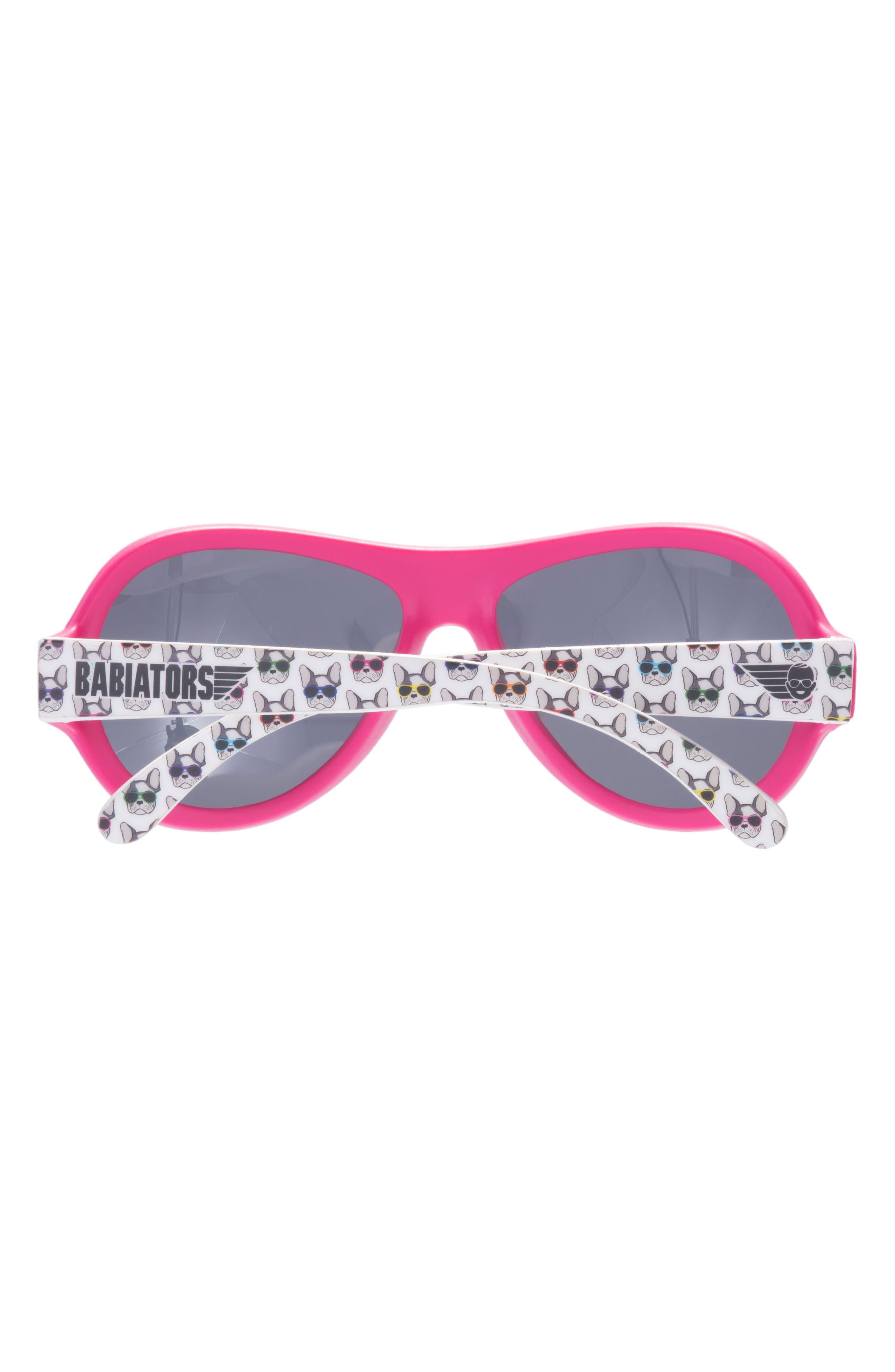 Puppy Print Polarized Aviator Sunglasses,                             Alternate thumbnail 3, color,                             Puppy Love