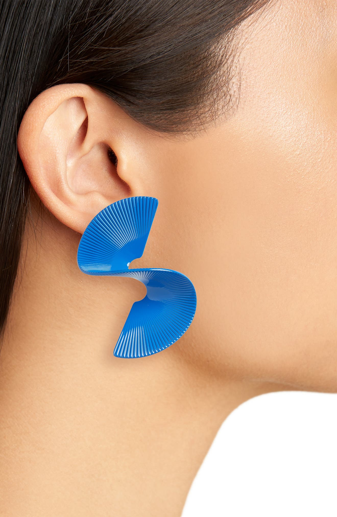 Swirl Earrings,                             Alternate thumbnail 2, color,                             Blue