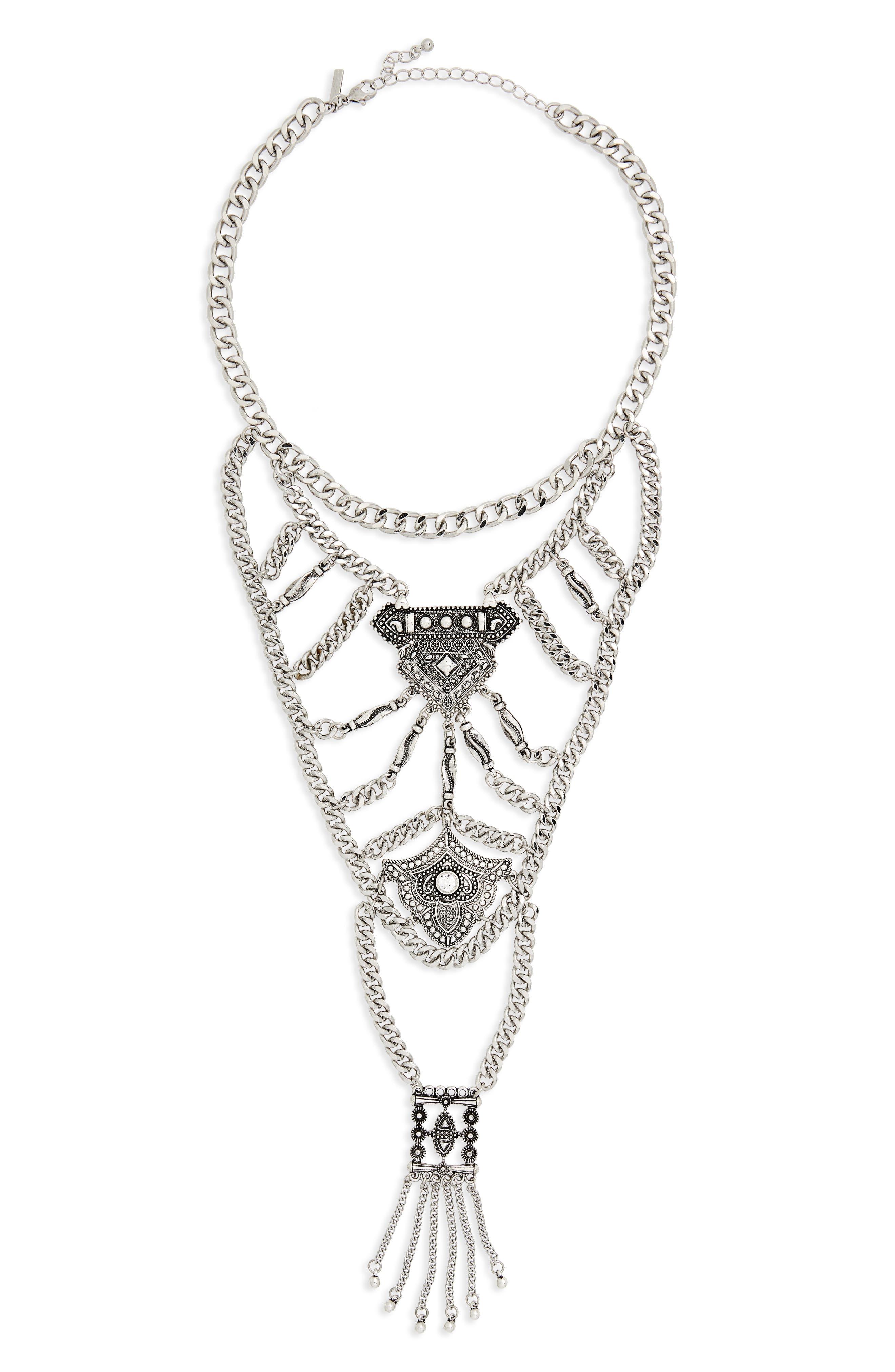 Topshop Mega Chain Collar Necklace
