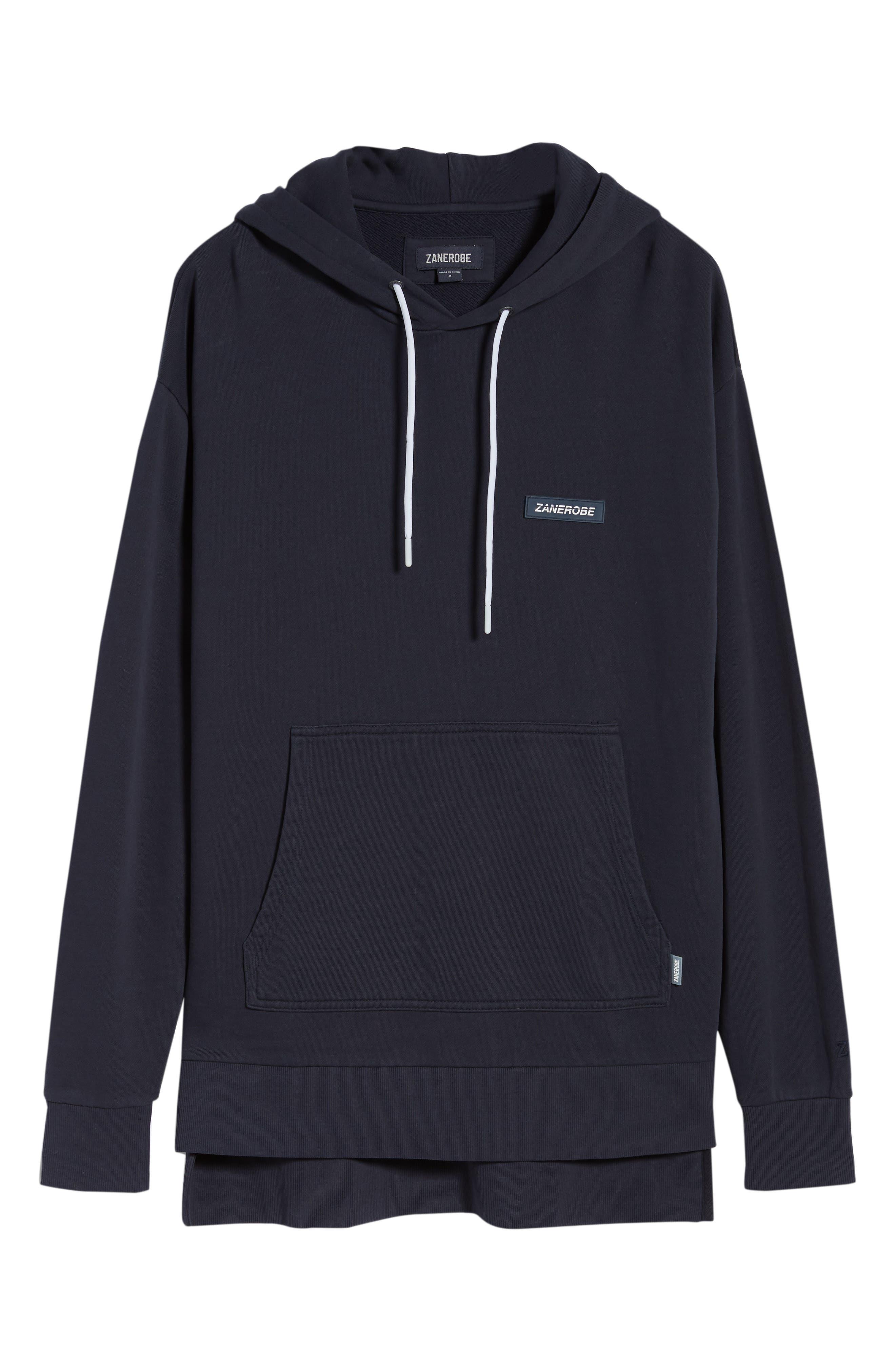 Brand Rugger Hooded Sweatshirt,                             Alternate thumbnail 6, color,                             Duke Blue
