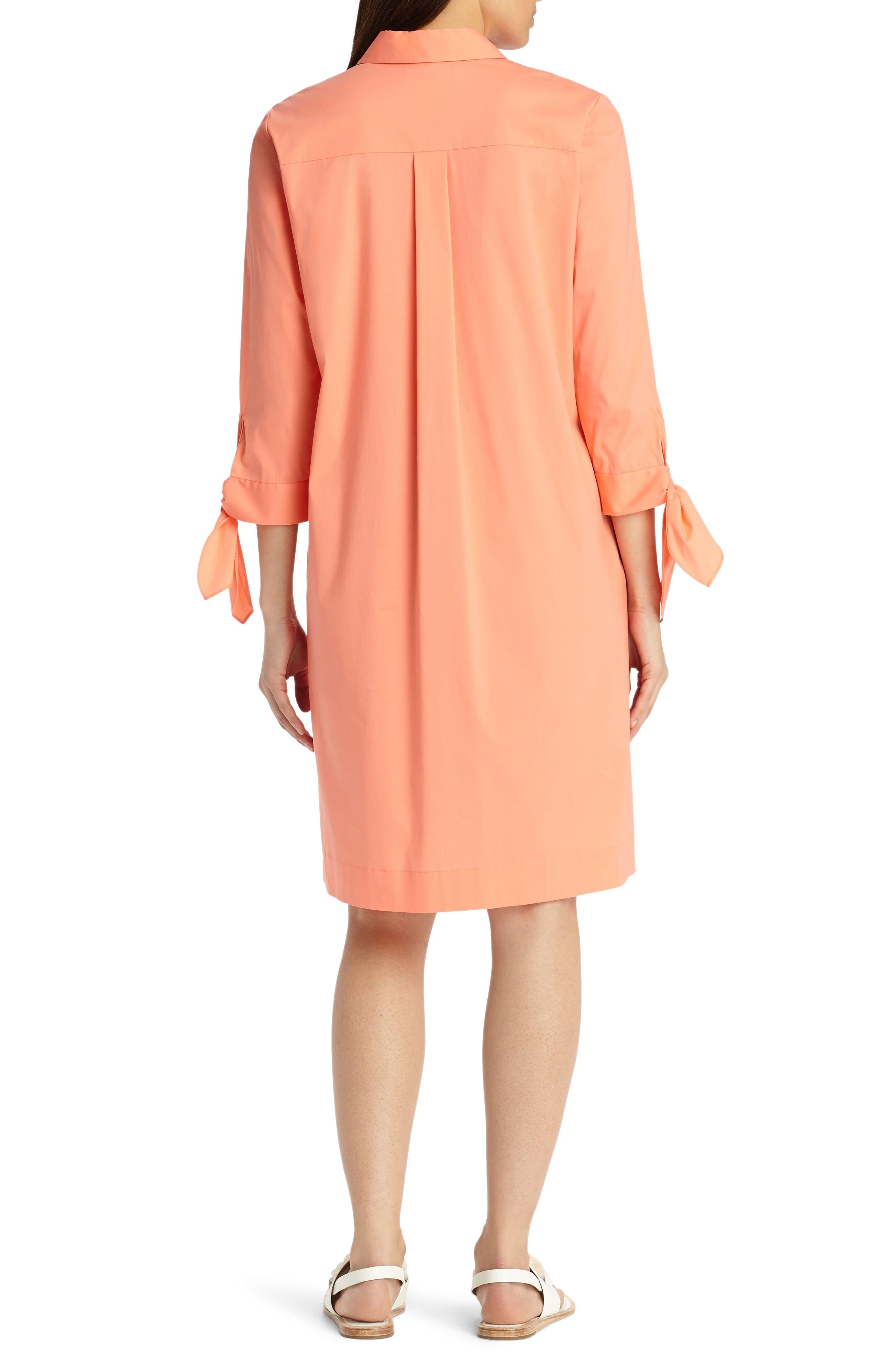 Alternate Image 2  - Lafayette 148 New York Talia Stretch Cotton Blend Dress