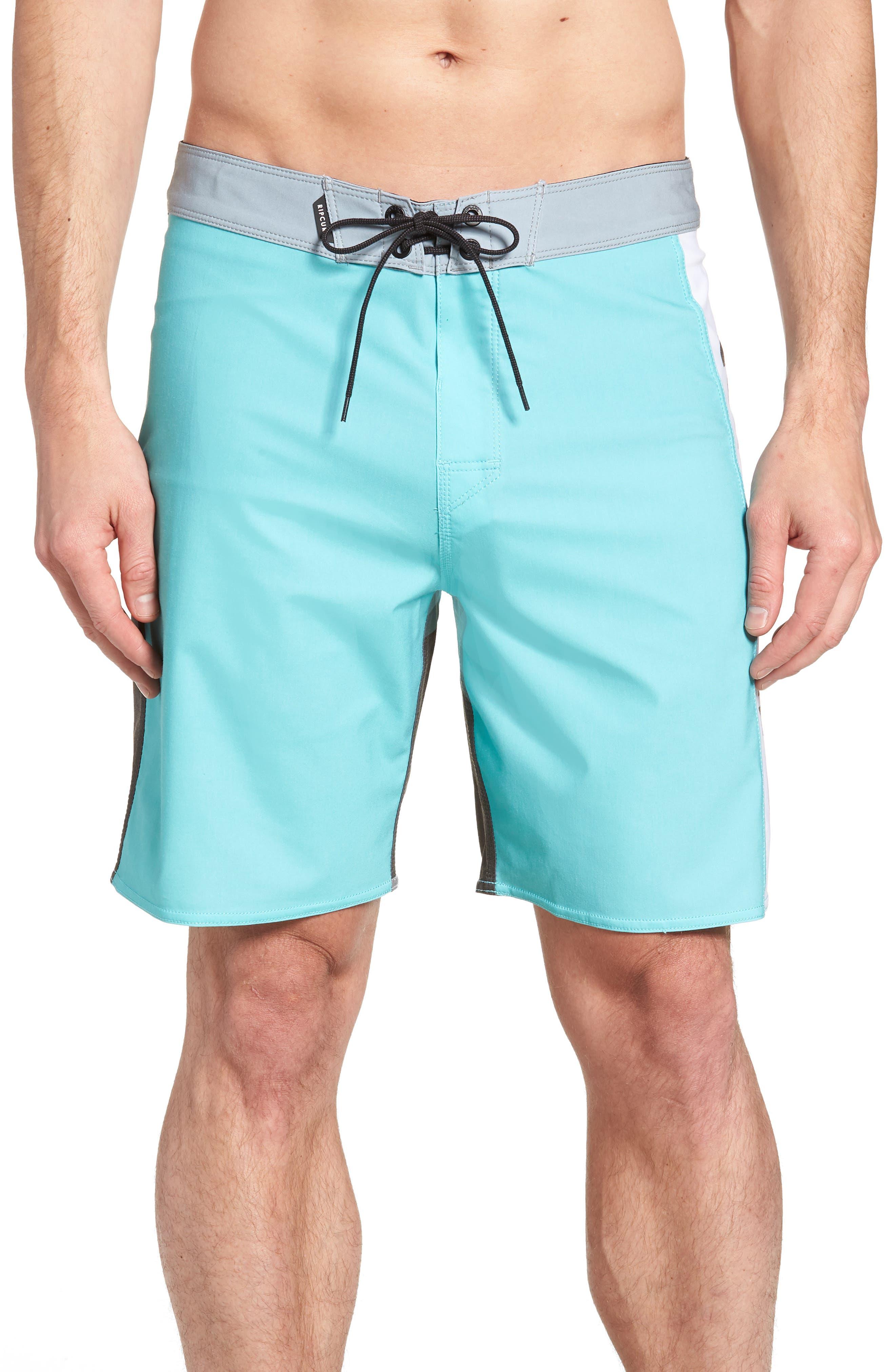 Mirage Owen Stretch Board Shorts,                         Main,                         color, Aqua