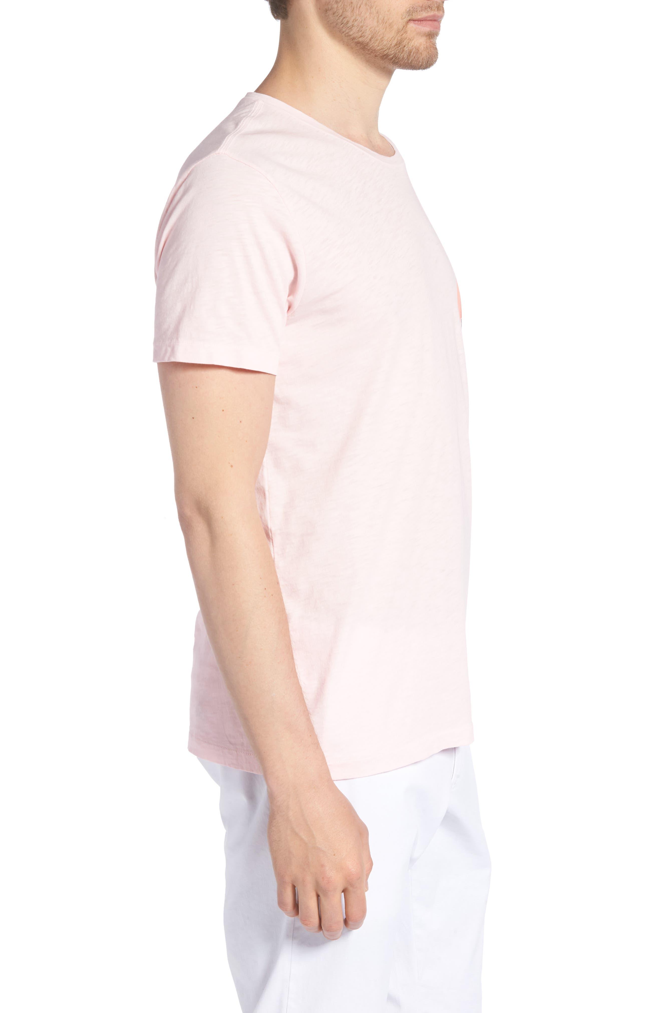 Cactus Sunset Slim Fit T-Shirt,                             Alternate thumbnail 3, color,                             Skivvy Pink