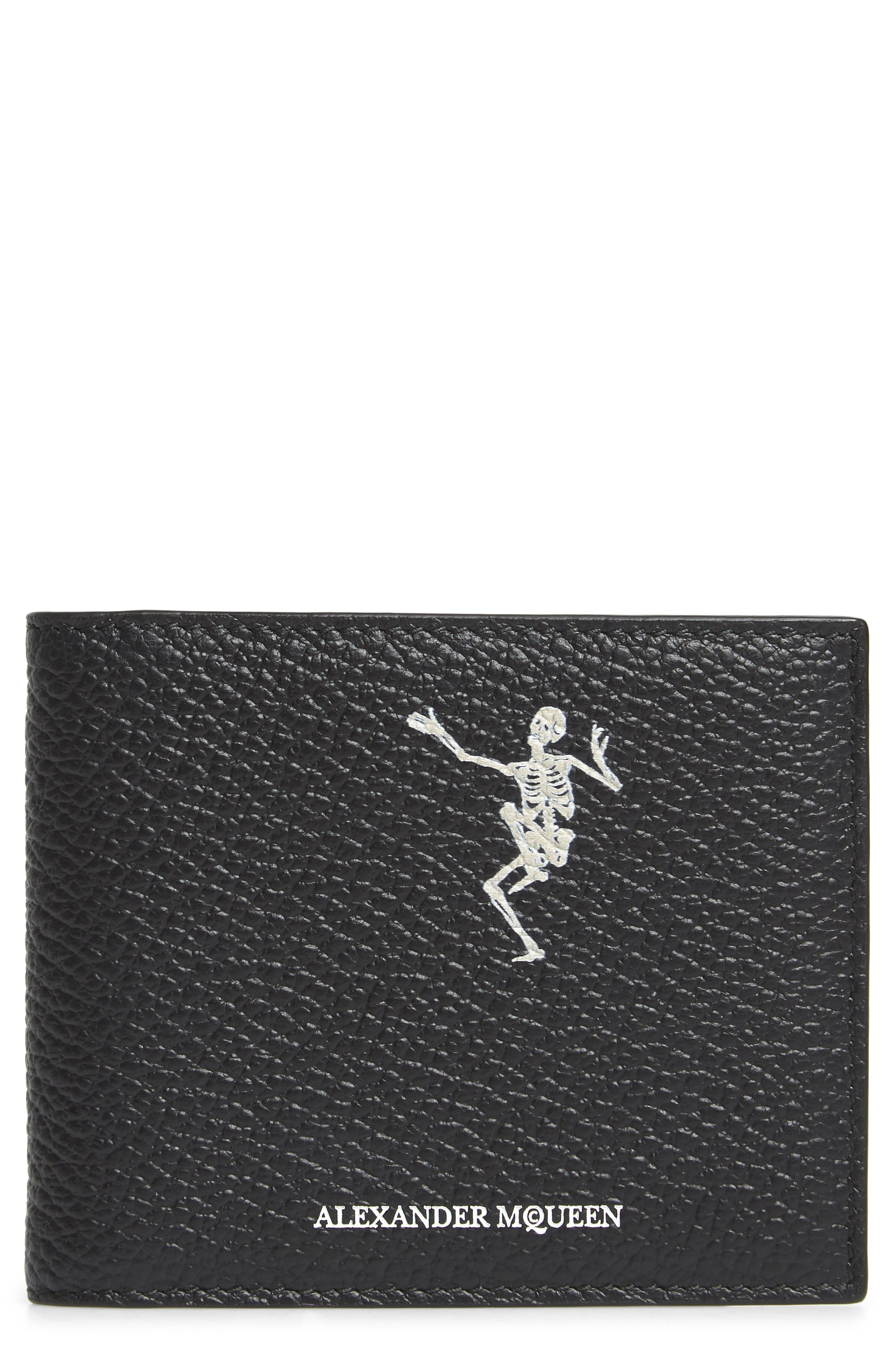 Alexander McQueen Dancing Skeleton Leather Money Clip Card Case