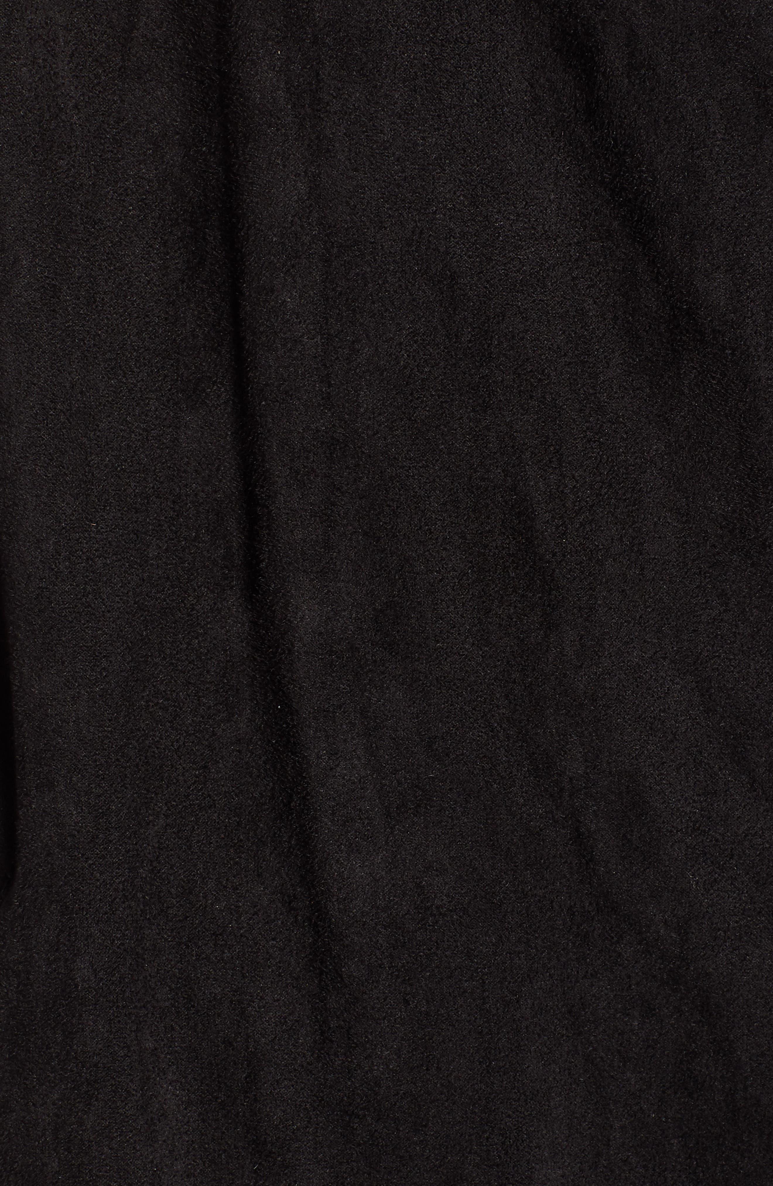 Cloud Nine Drape Jacket,                             Alternate thumbnail 6, color,                             Black