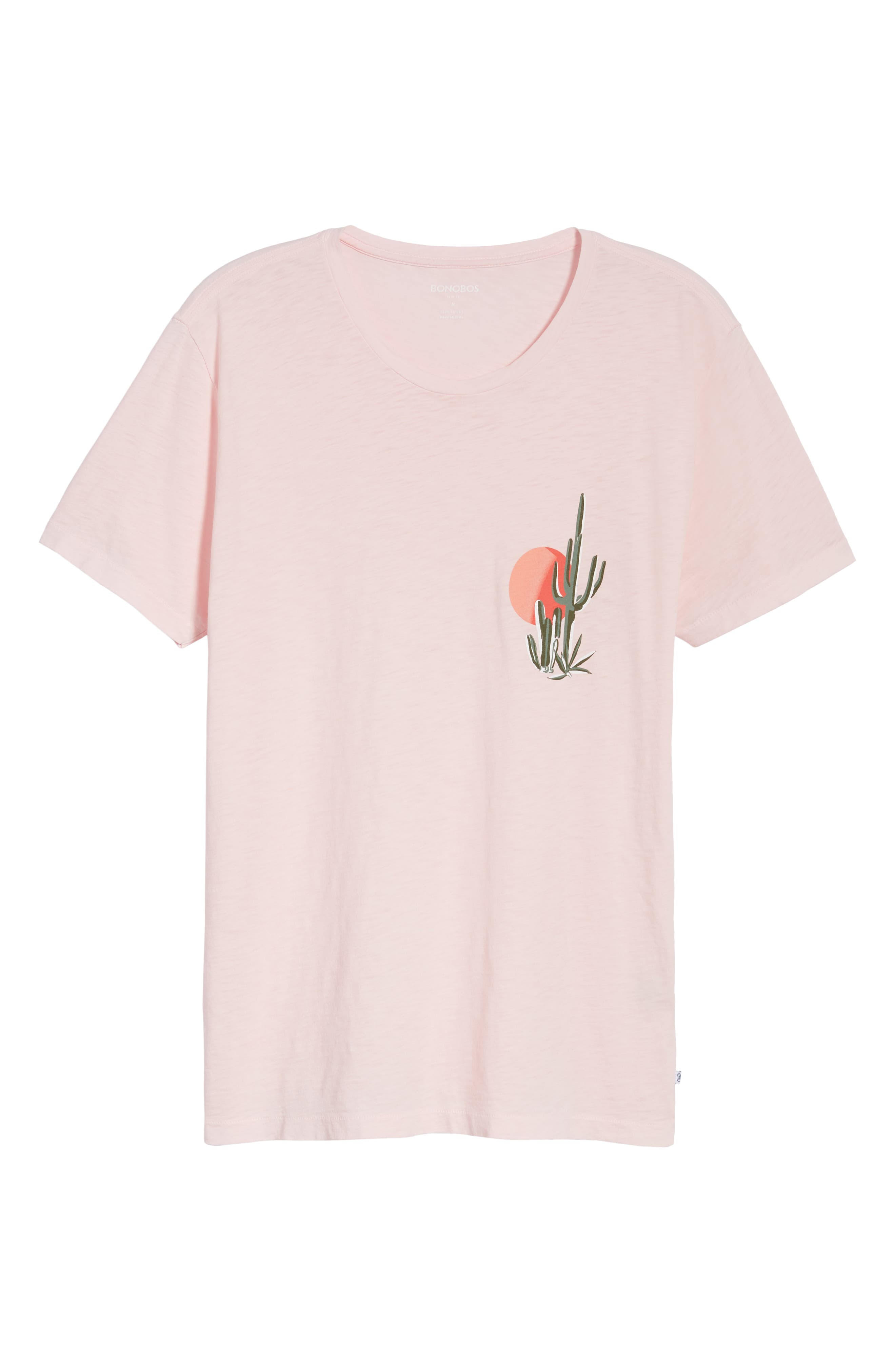 Cactus Sunset Slim Fit T-Shirt,                             Alternate thumbnail 6, color,                             Skivvy Pink