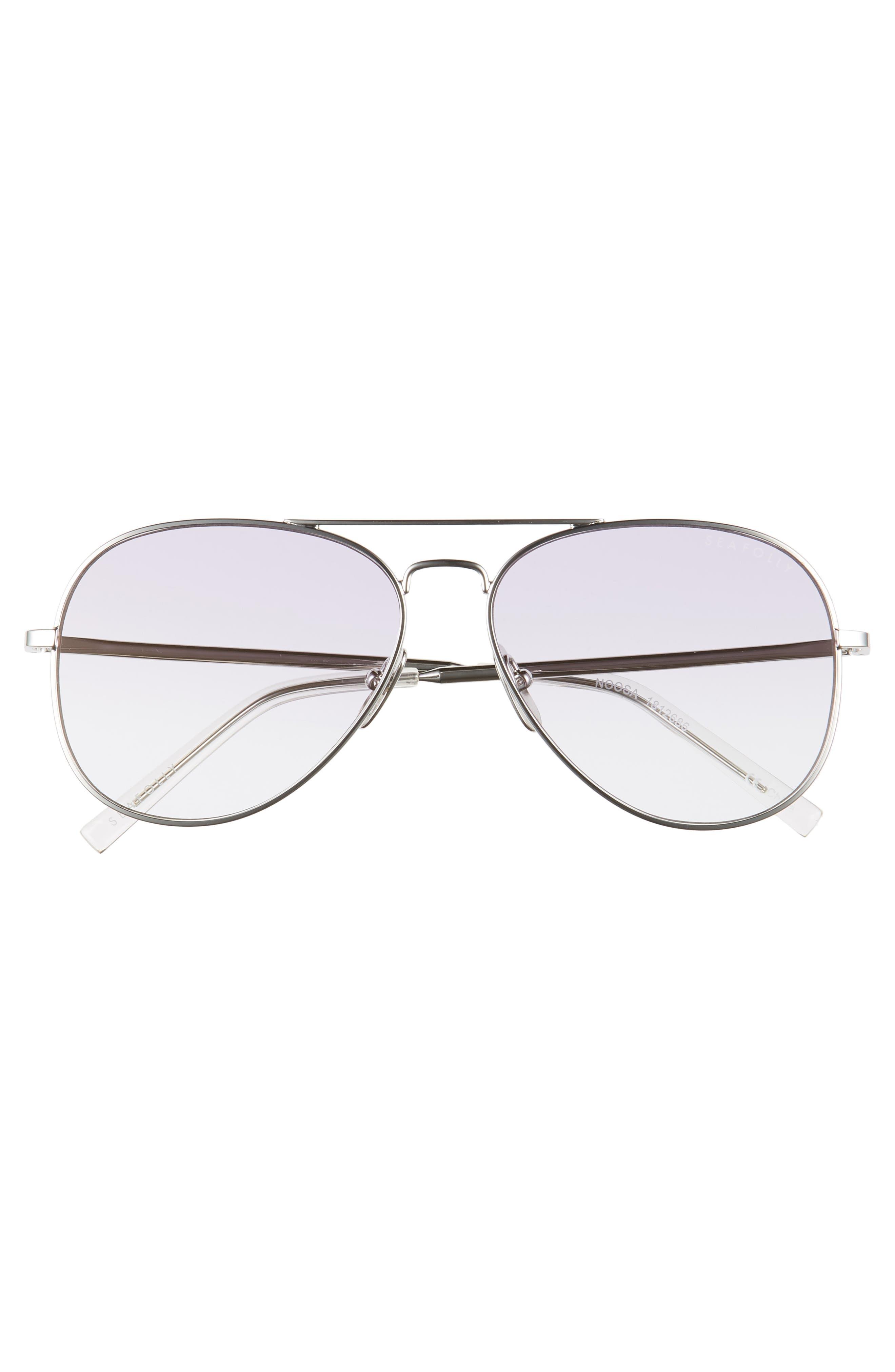 Noosa 55mm Metal Aviator Sunglasses,                             Alternate thumbnail 3, color,                             Silver