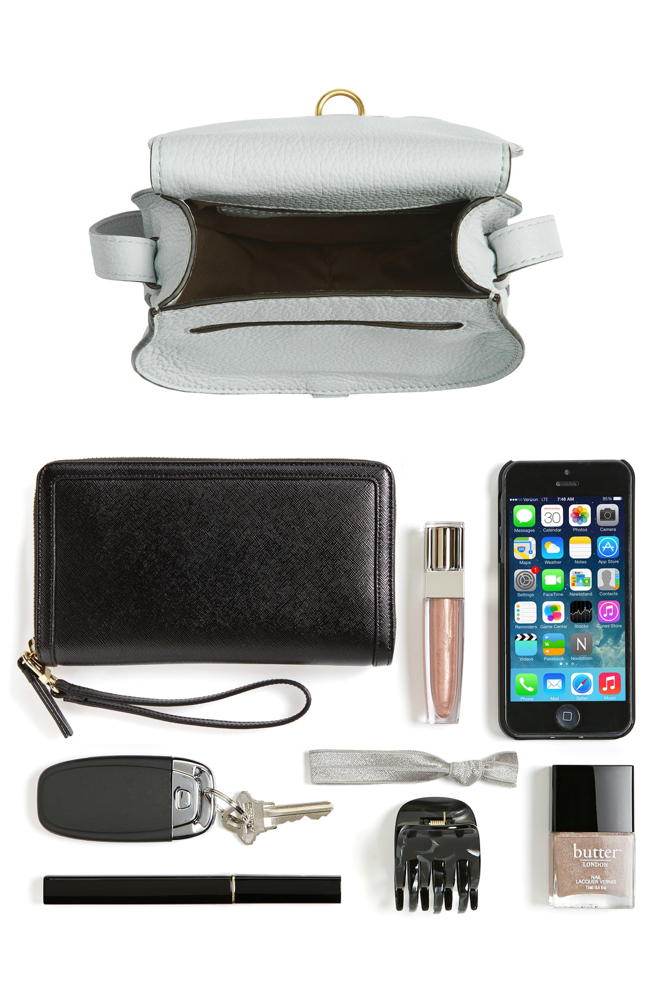 'Mini Marcie' Leather Crossbody Bag,                             Alternate thumbnail 7, color,