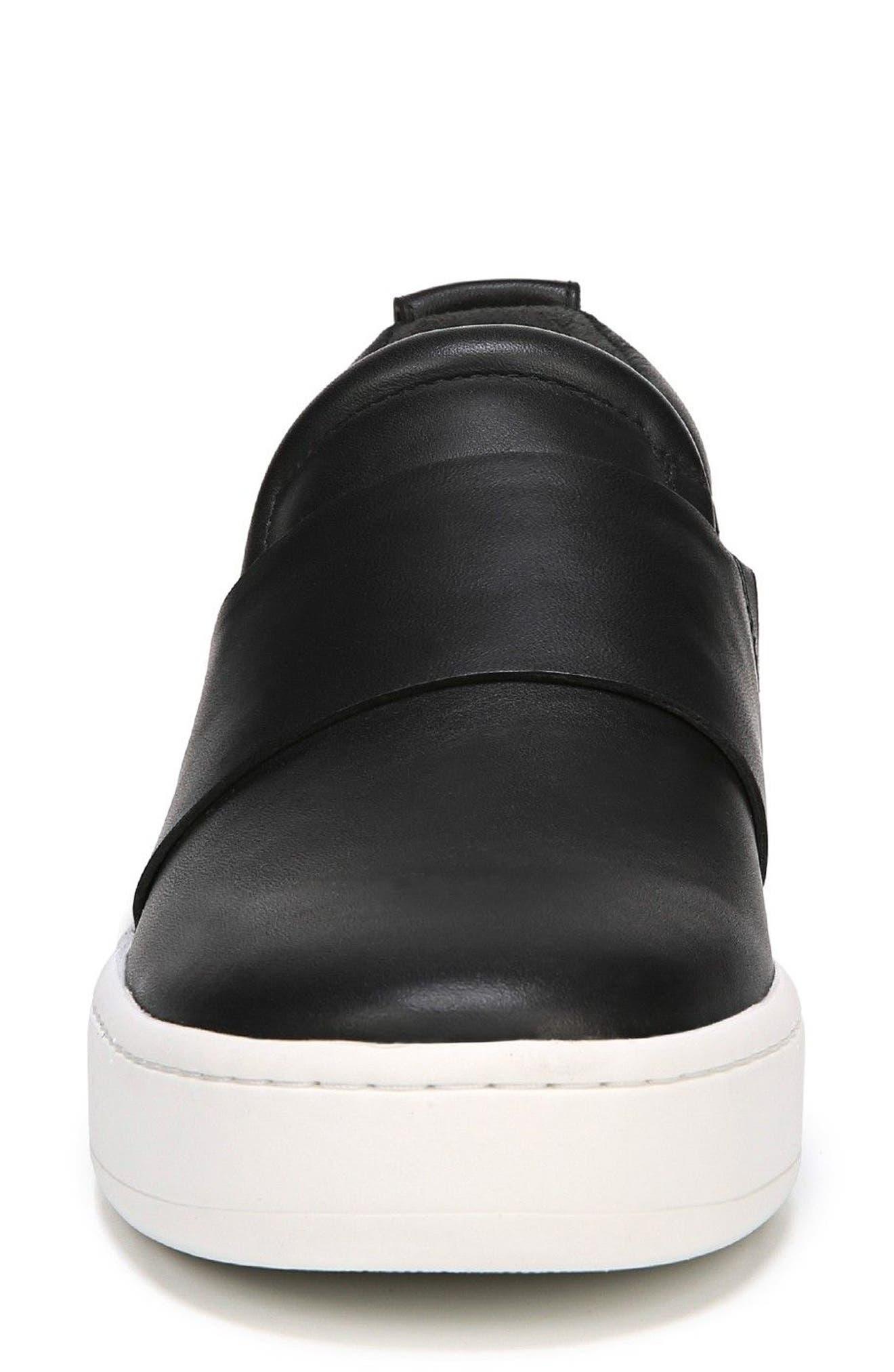Ryder Slip-On Sneaker,                             Alternate thumbnail 4, color,                             Black Leather