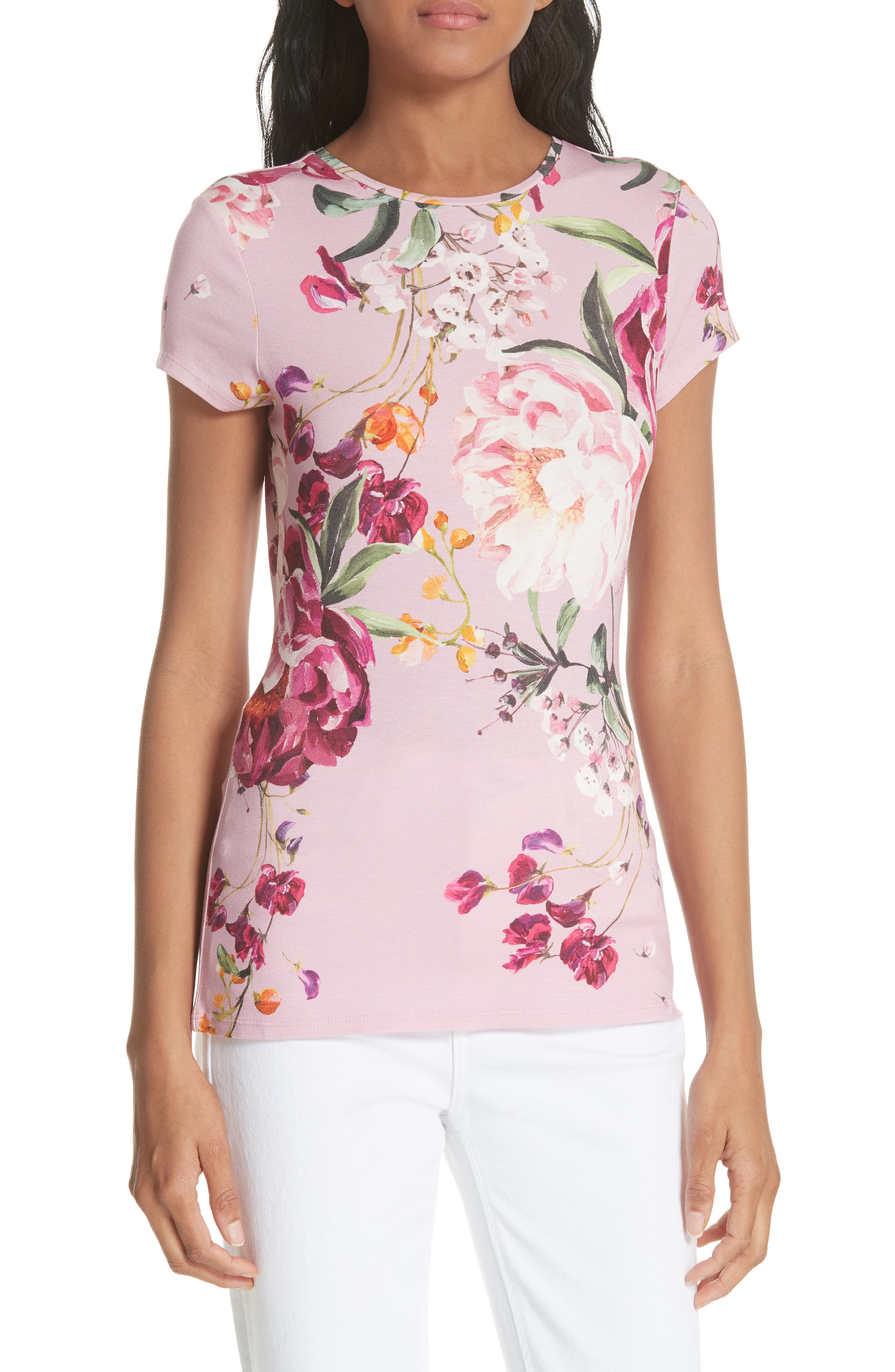 Evaai Serenity Fitted Tee,                             Main thumbnail 1, color,                             Lilac