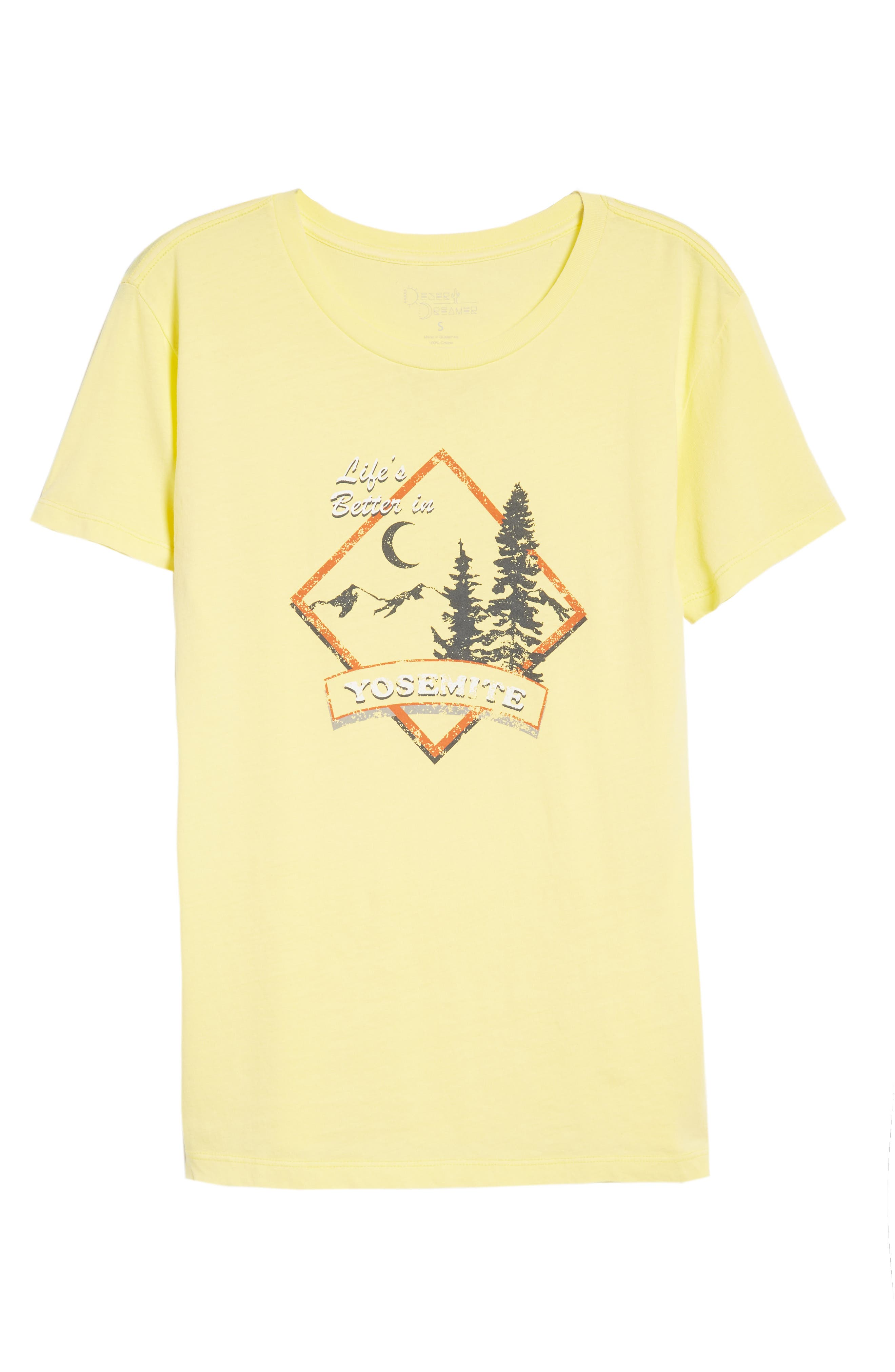 Yosemite Graphic Tee,                             Alternate thumbnail 7, color,                             Washed Yellow