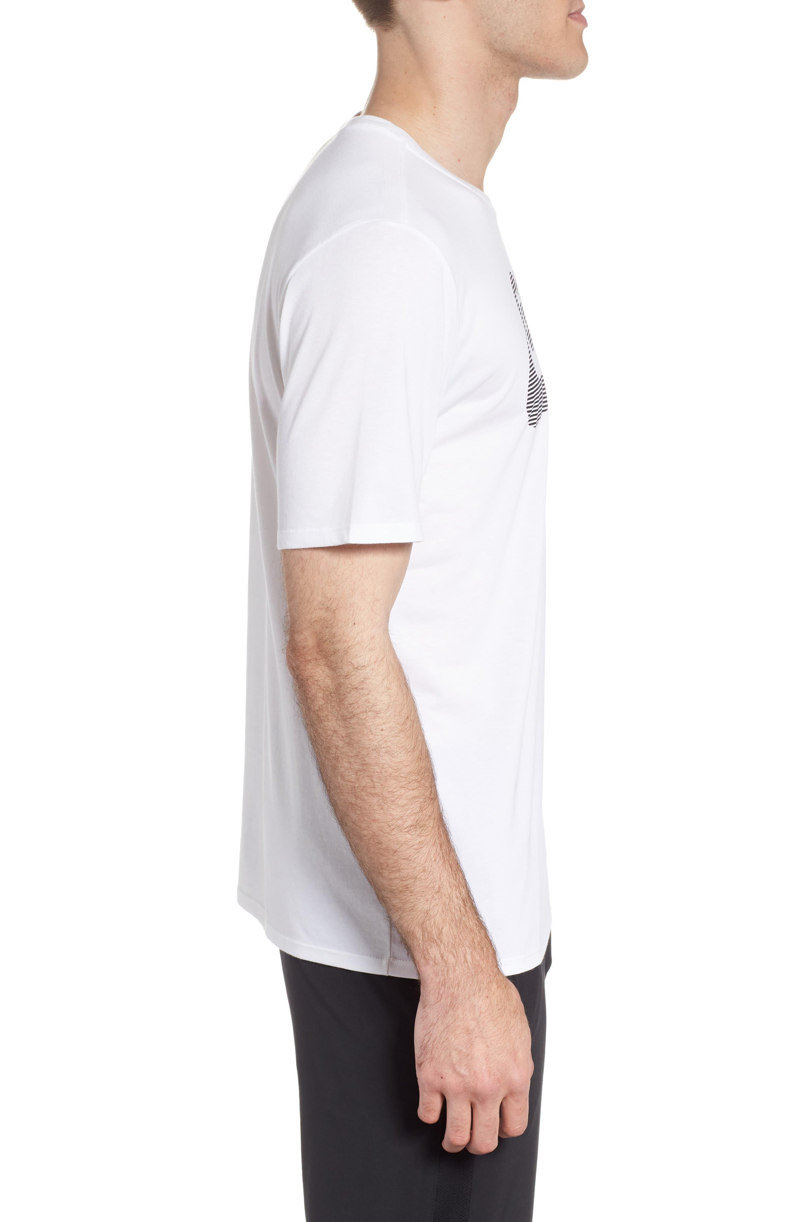 Dry Lockup T-Shirt,                             Alternate thumbnail 3, color,                             White/ Black