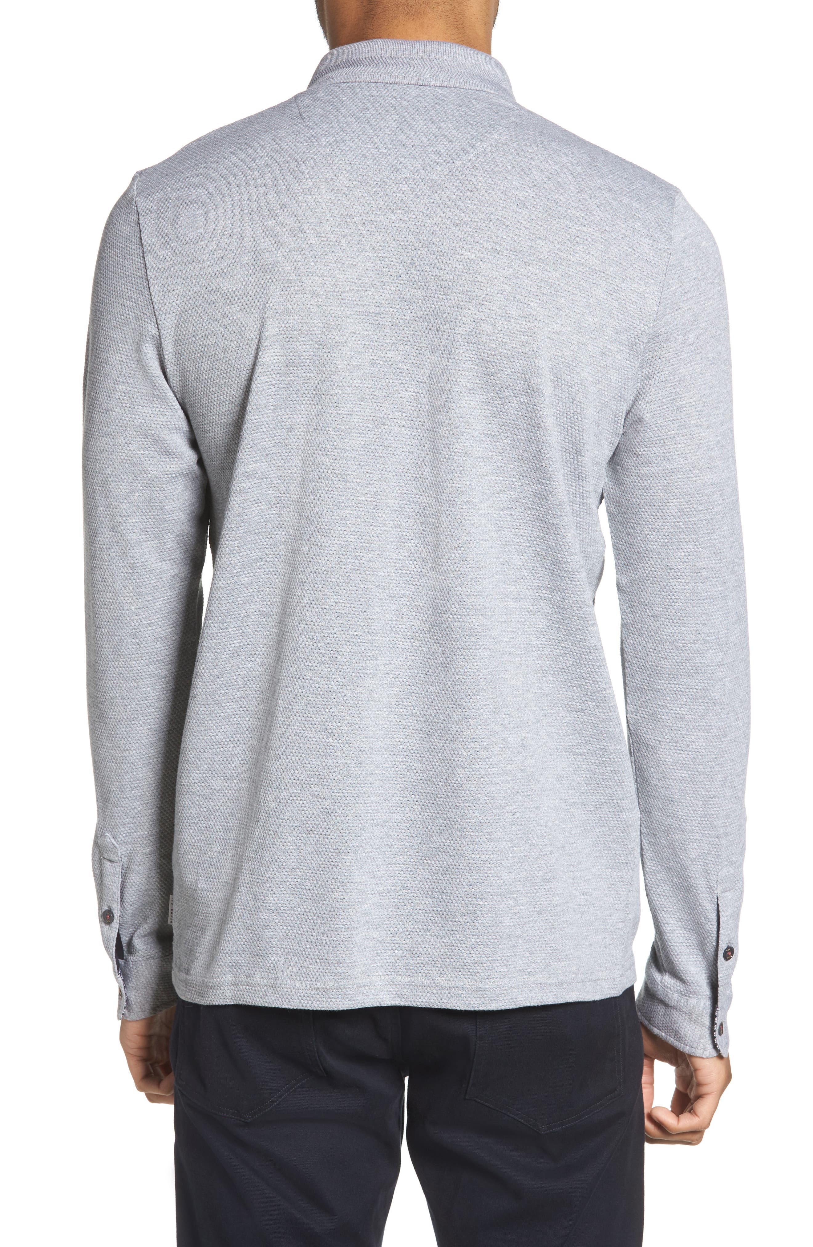 Scooby Trim Fit Long Sleeve Polo Shirt,                             Alternate thumbnail 2, color,                             Grey Marl