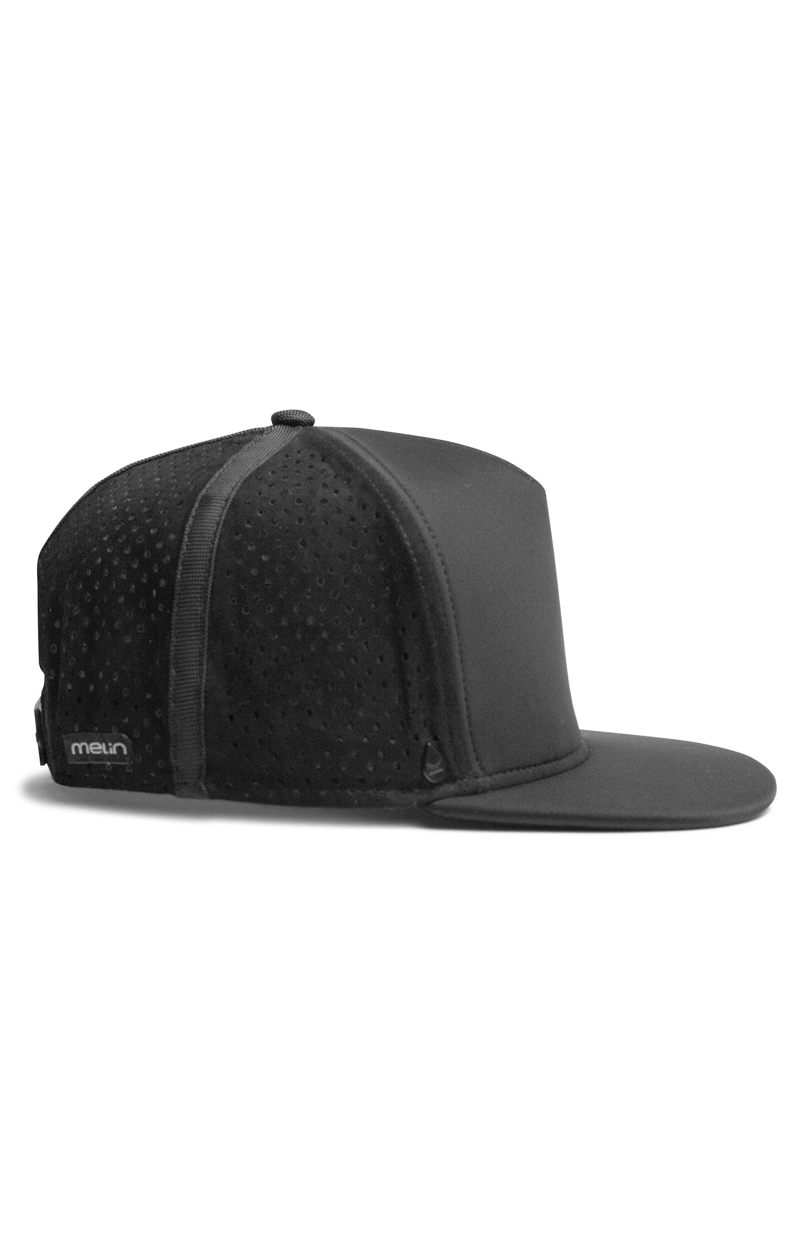 'Amphibian' Split Fit Snapback Baseball Cap,                             Alternate thumbnail 4, color,                             Black/ Black